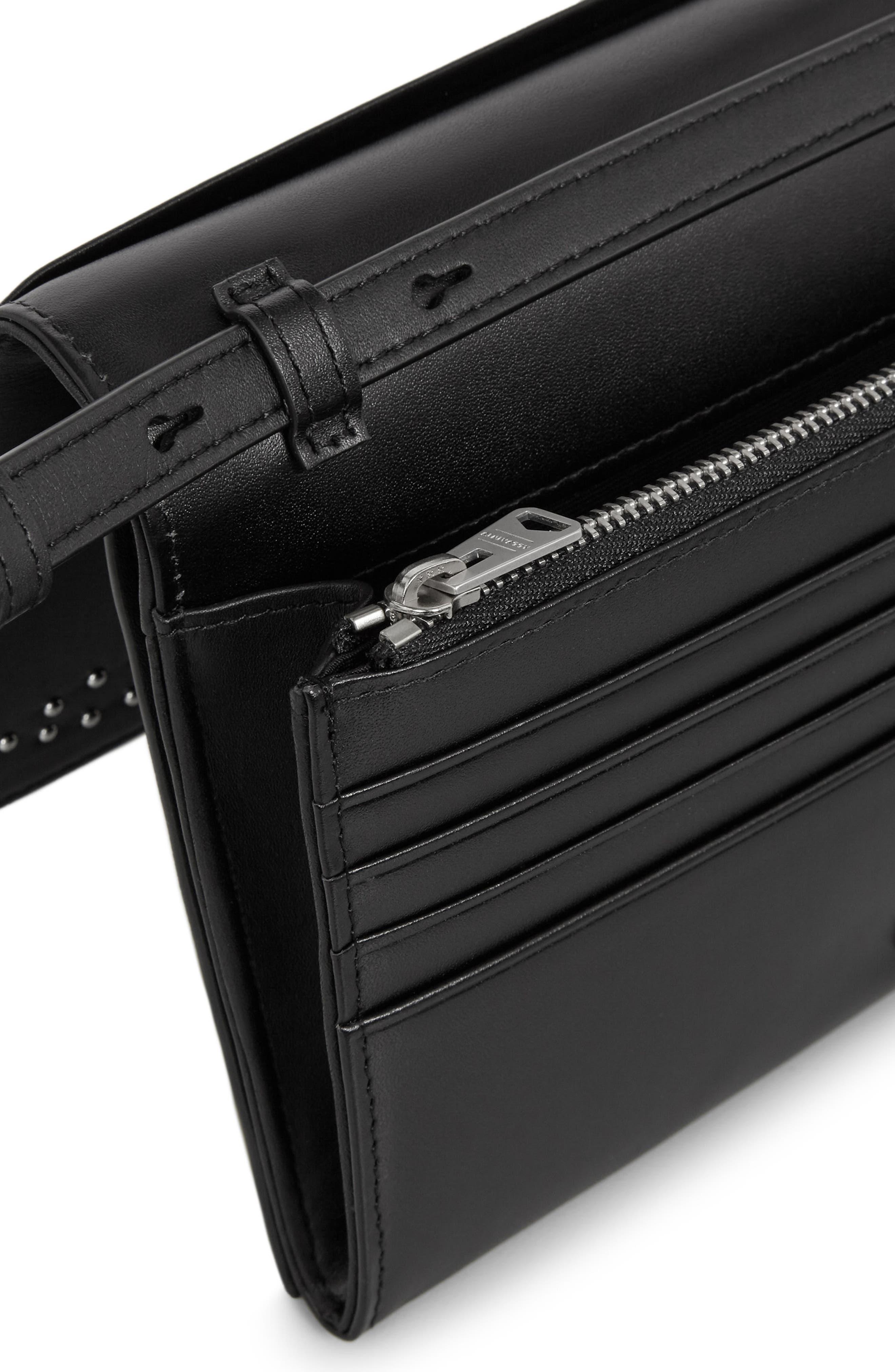 Billie Leather Wallet,                             Alternate thumbnail 2, color,                             Black