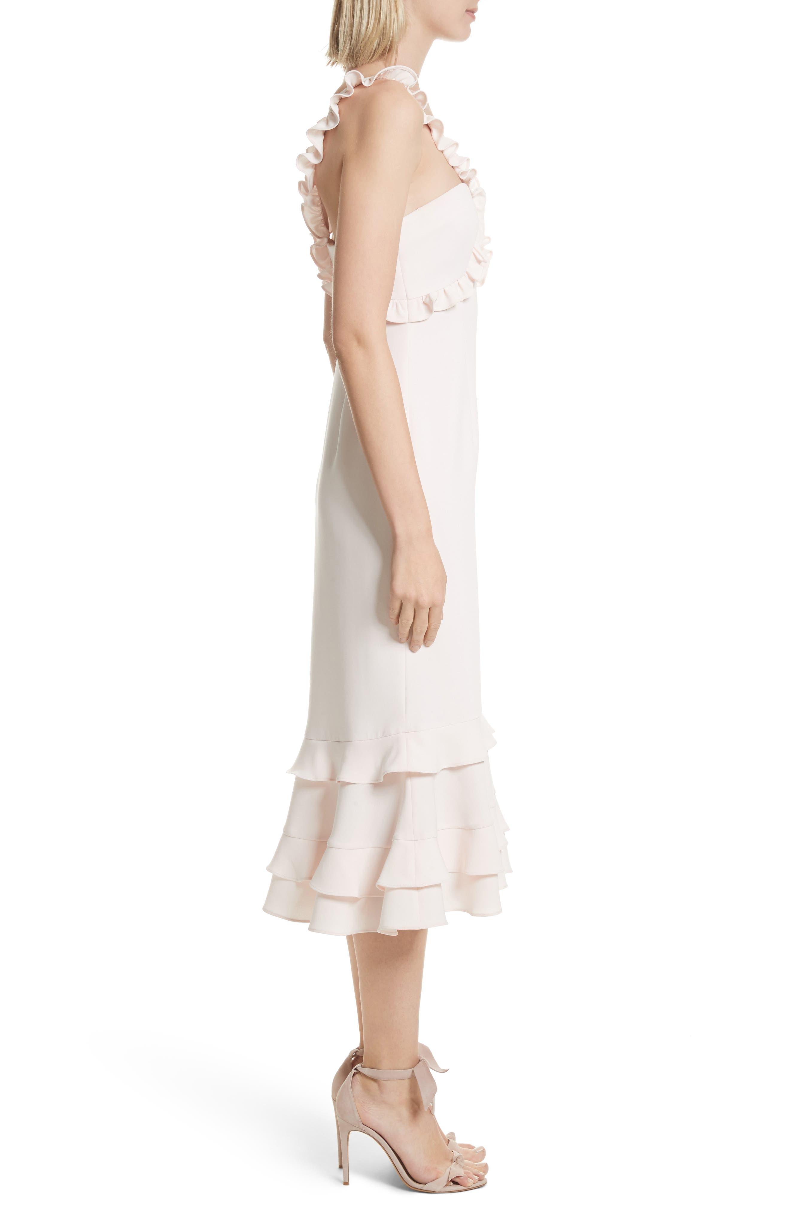 Kimora Ruffle Detail Dress,                             Alternate thumbnail 3, color,                             Pearl Blush