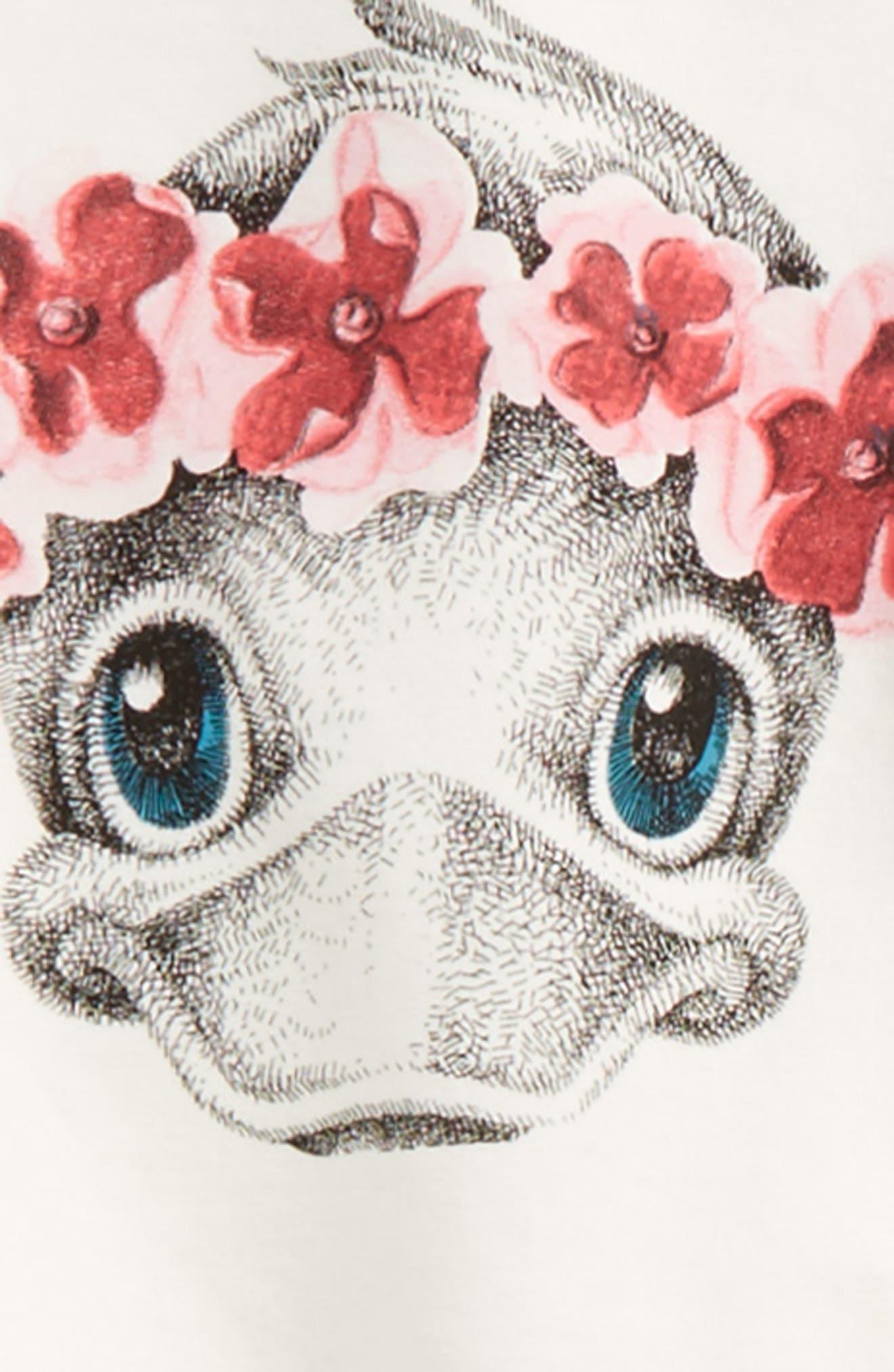 Alternate Image 2  - Moncler Duck Graphic Sweatshirt & Pants Set (Toddler Girls)