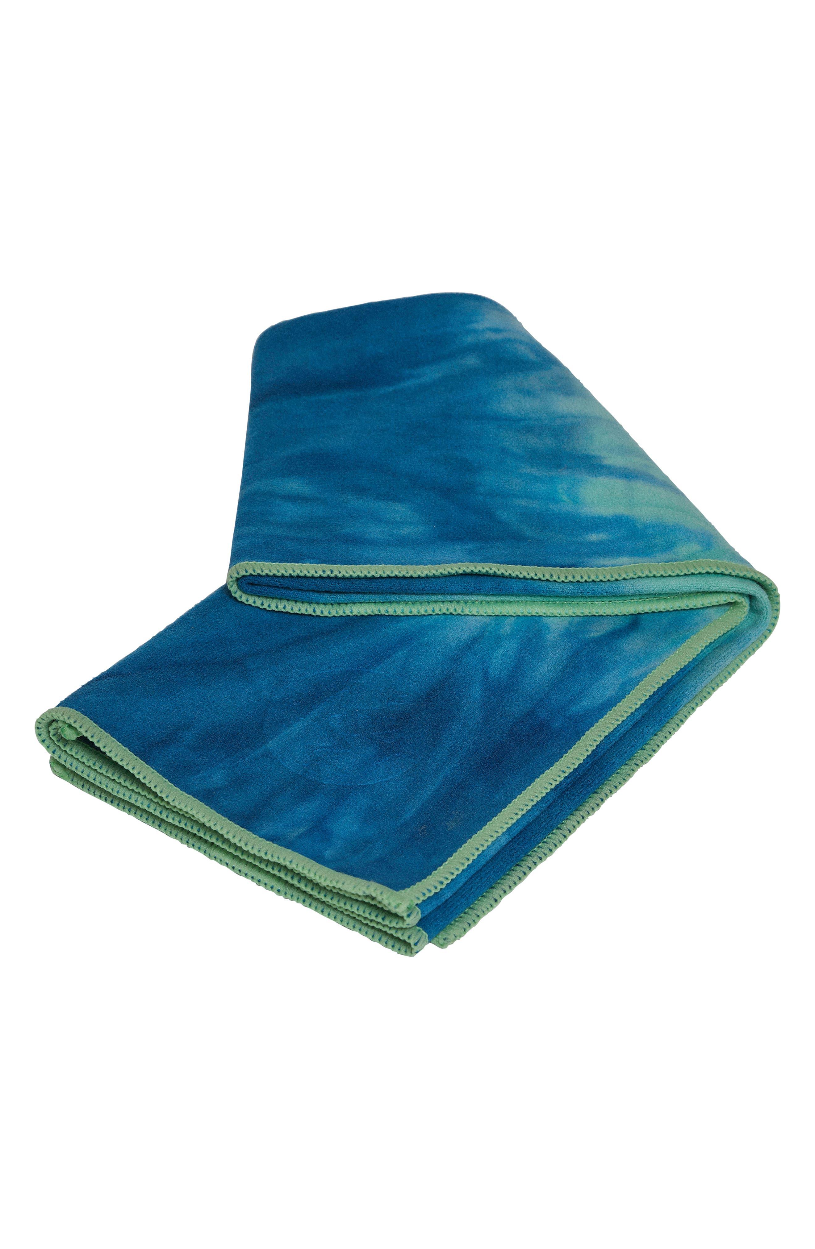 eQua<sup>®</sup> Hand Dyed Yoga Mat Towel,                             Alternate thumbnail 5, color,                             Maldive