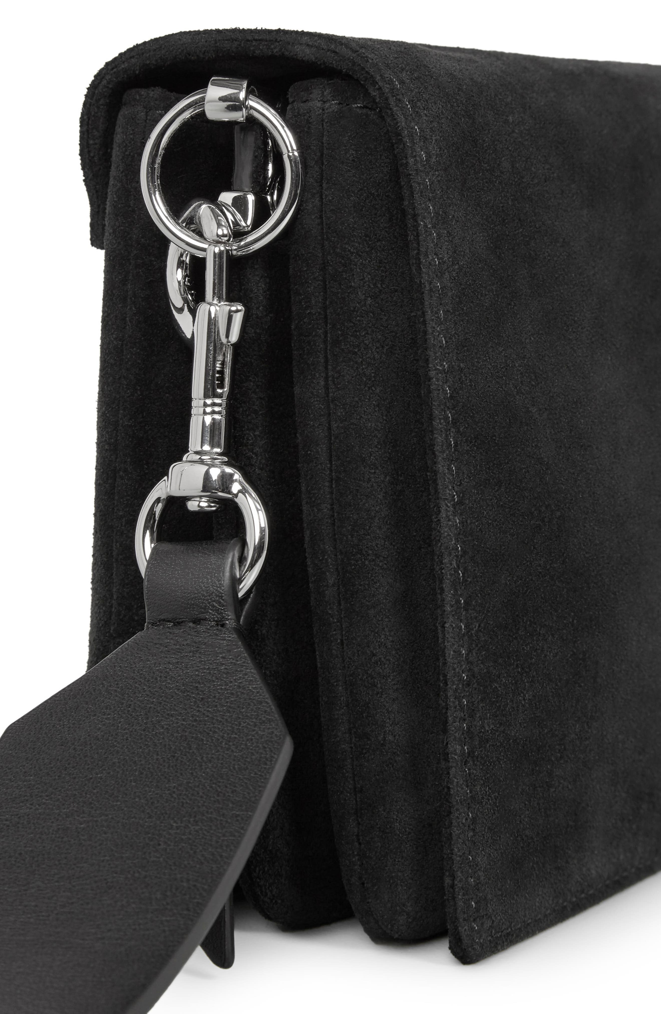 Billie Leather Wallet,                             Alternate thumbnail 5, color,                             Black