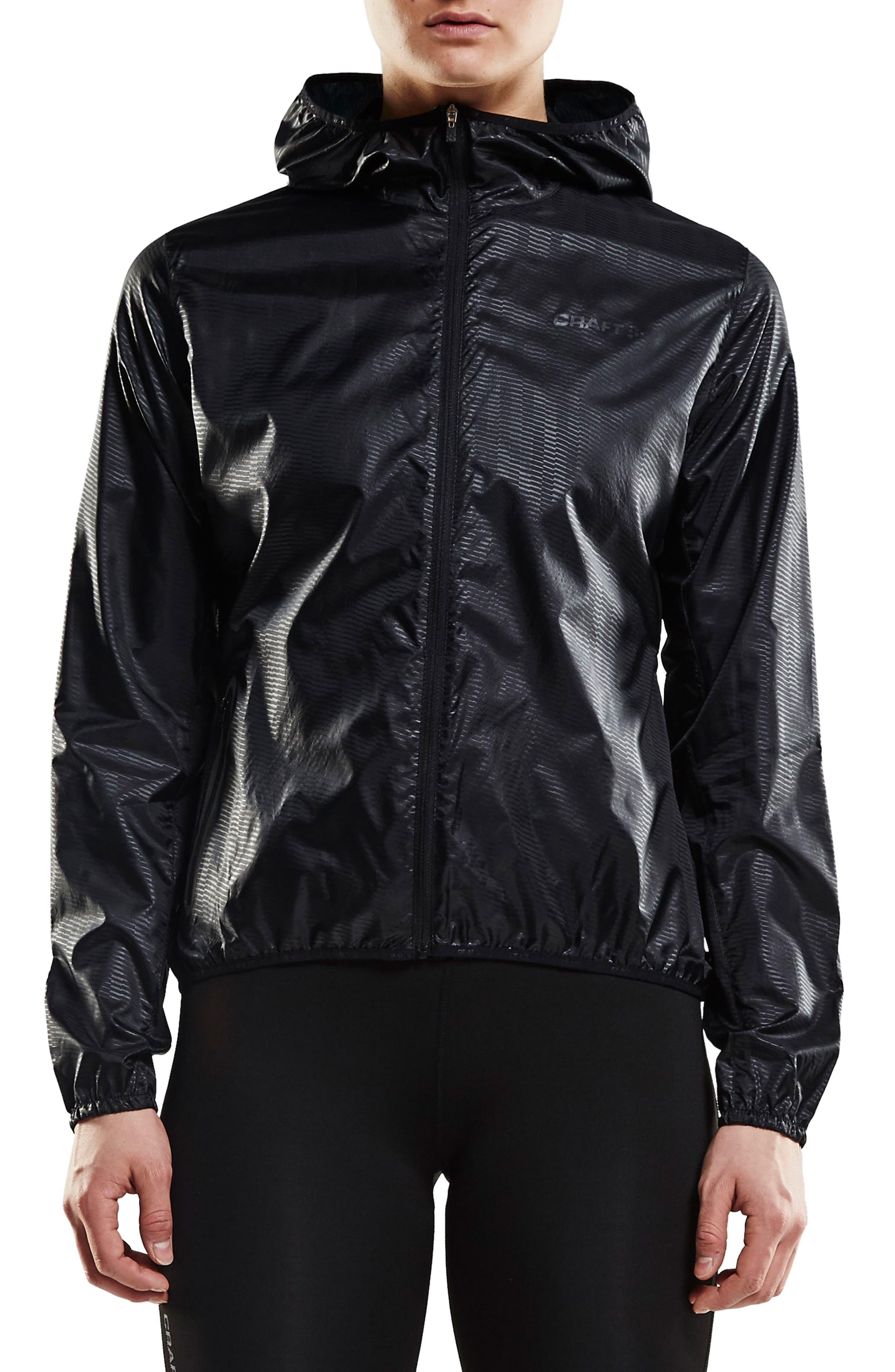 Packable Hooded Jacket,                         Main,                         color, Black