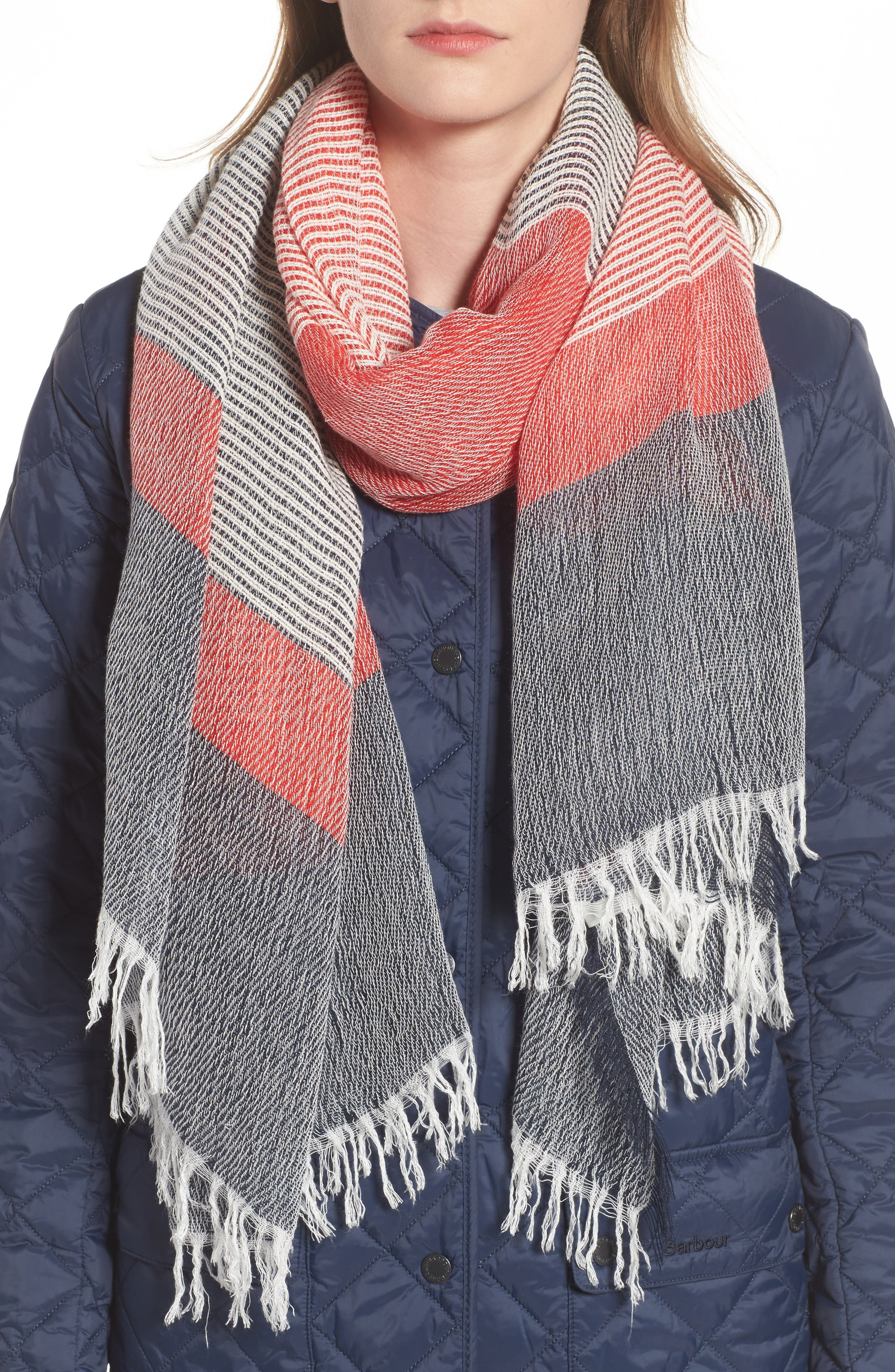 Whitmore Scarf,                             Main thumbnail 1, color,                             Navy/ Red