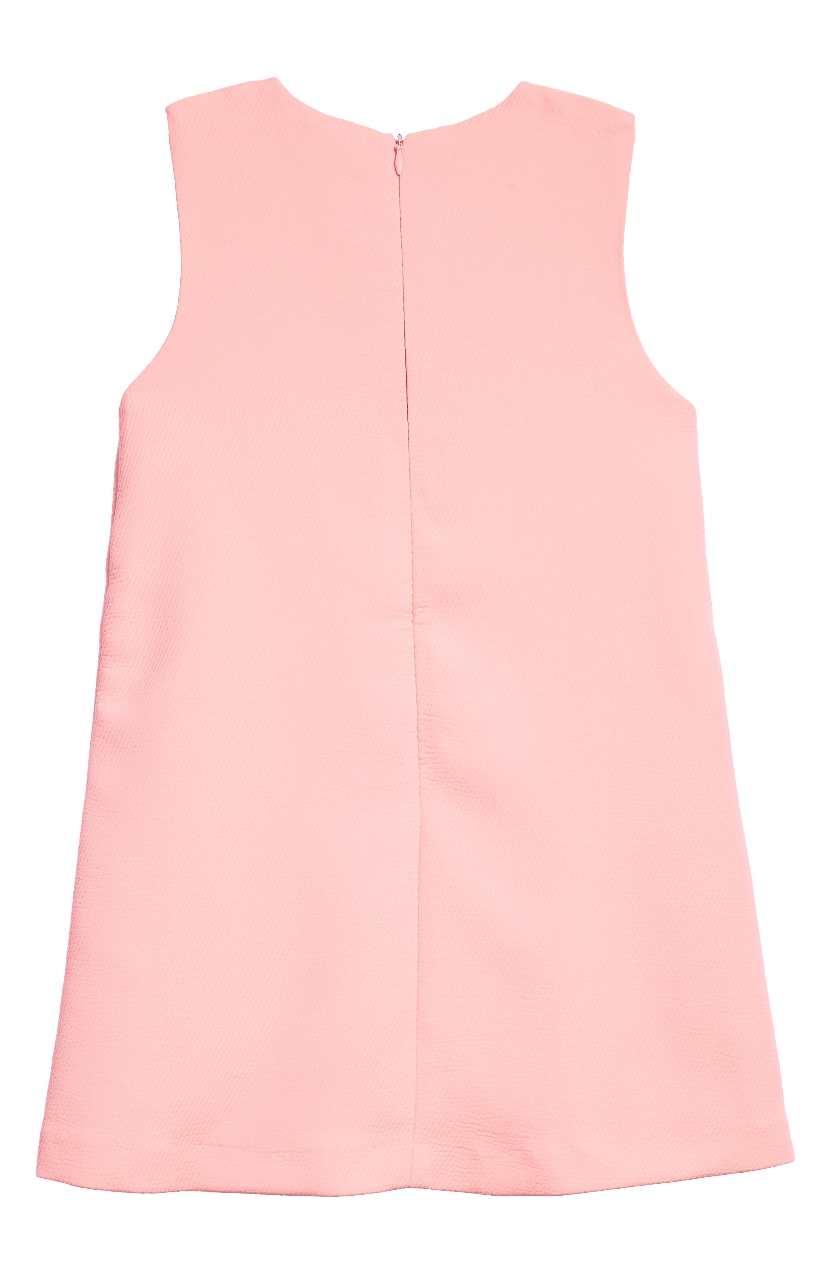 Mod Sleeveless Shift Dress,                             Alternate thumbnail 2, color,                             Pink