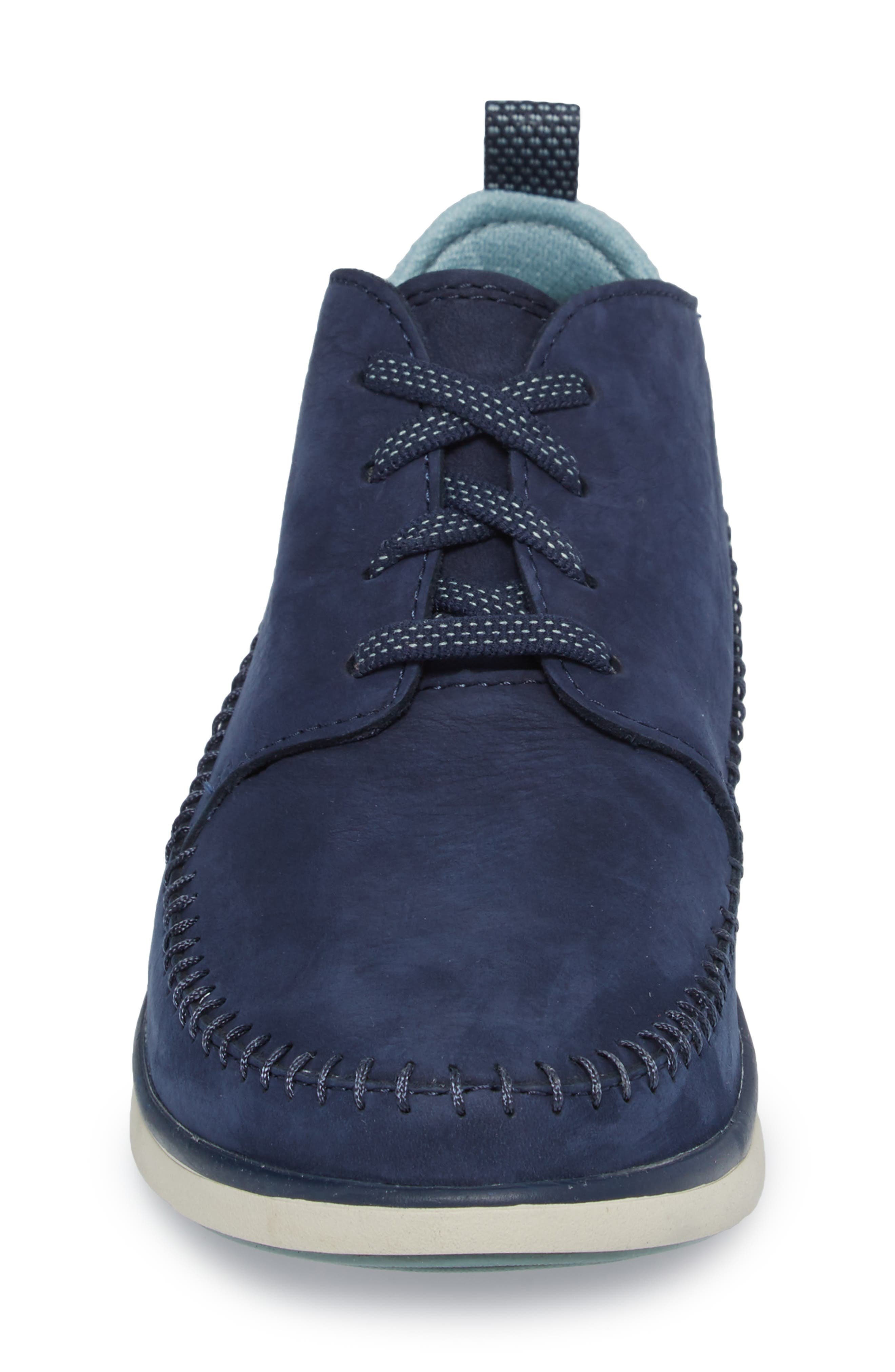 Olympia Lace-Up Sneaker,                             Alternate thumbnail 4, color,                             Blue Nubuck