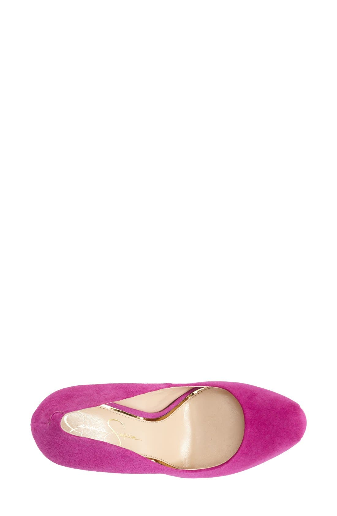 'Rebeca' Platform Pump,                             Alternate thumbnail 3, color,                             Spring Magenta