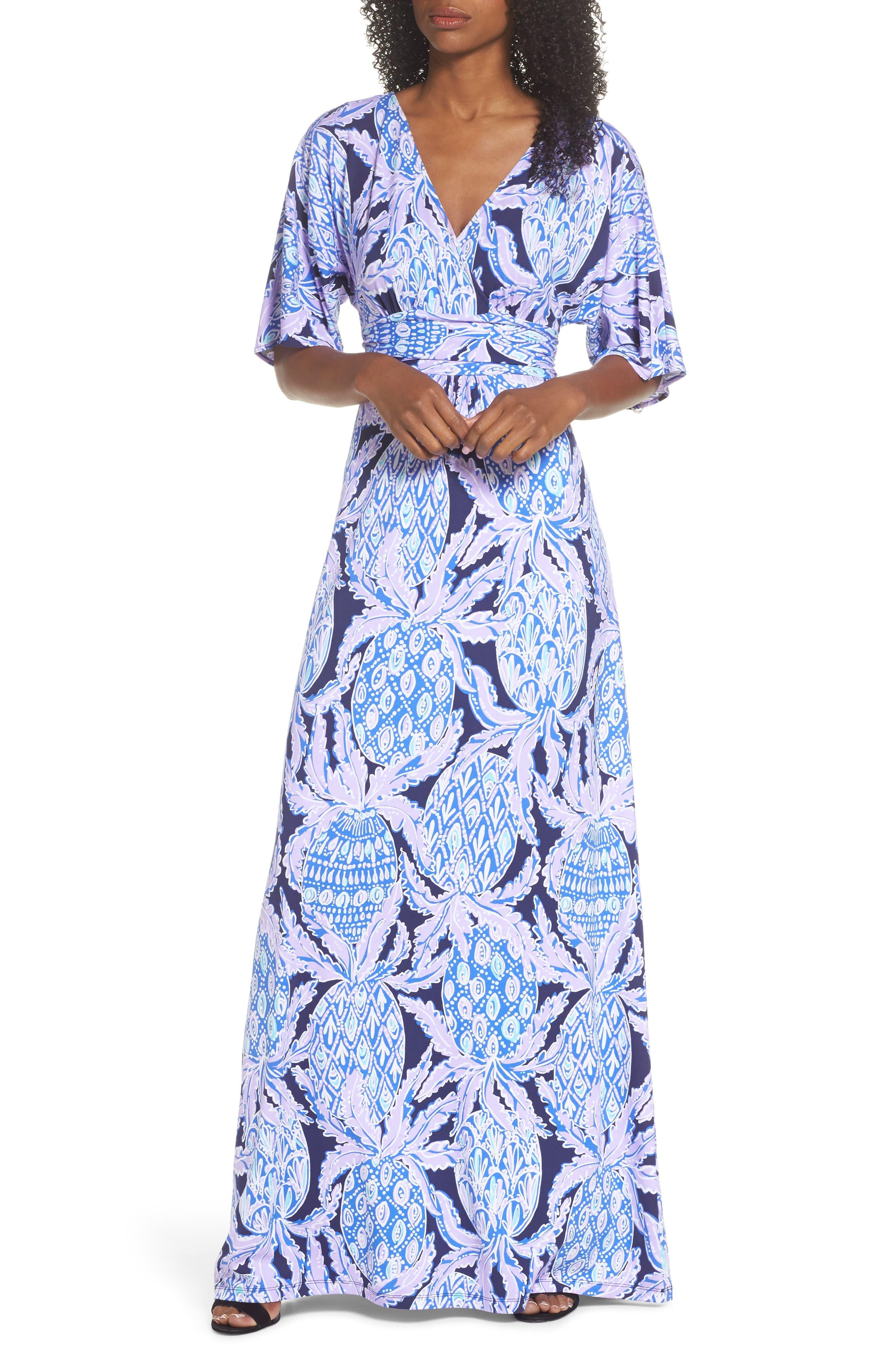 Parigi Maxi Dress,                         Main,                         color, Lilac Verbena Coco Safari
