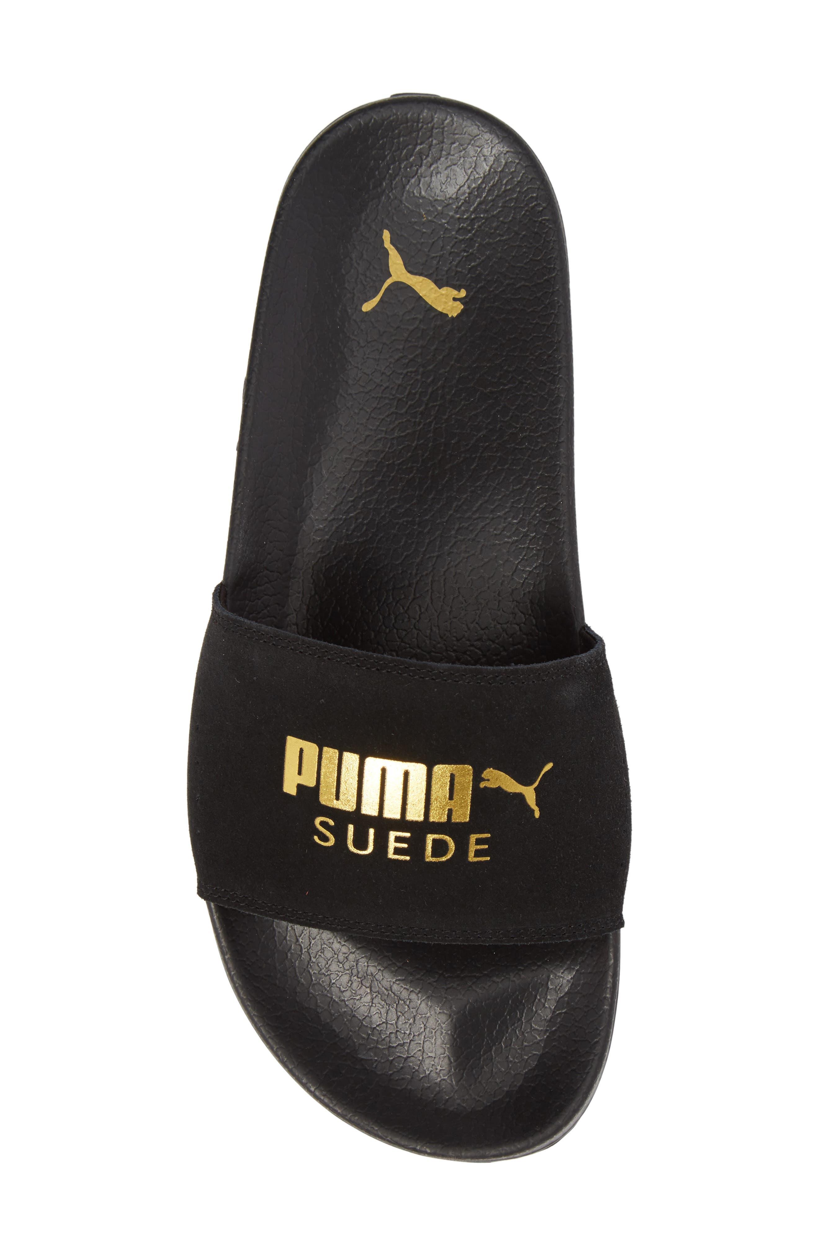 Alternate Image 5  - PUMA Leadcat Suede Slide Sandal (Men)