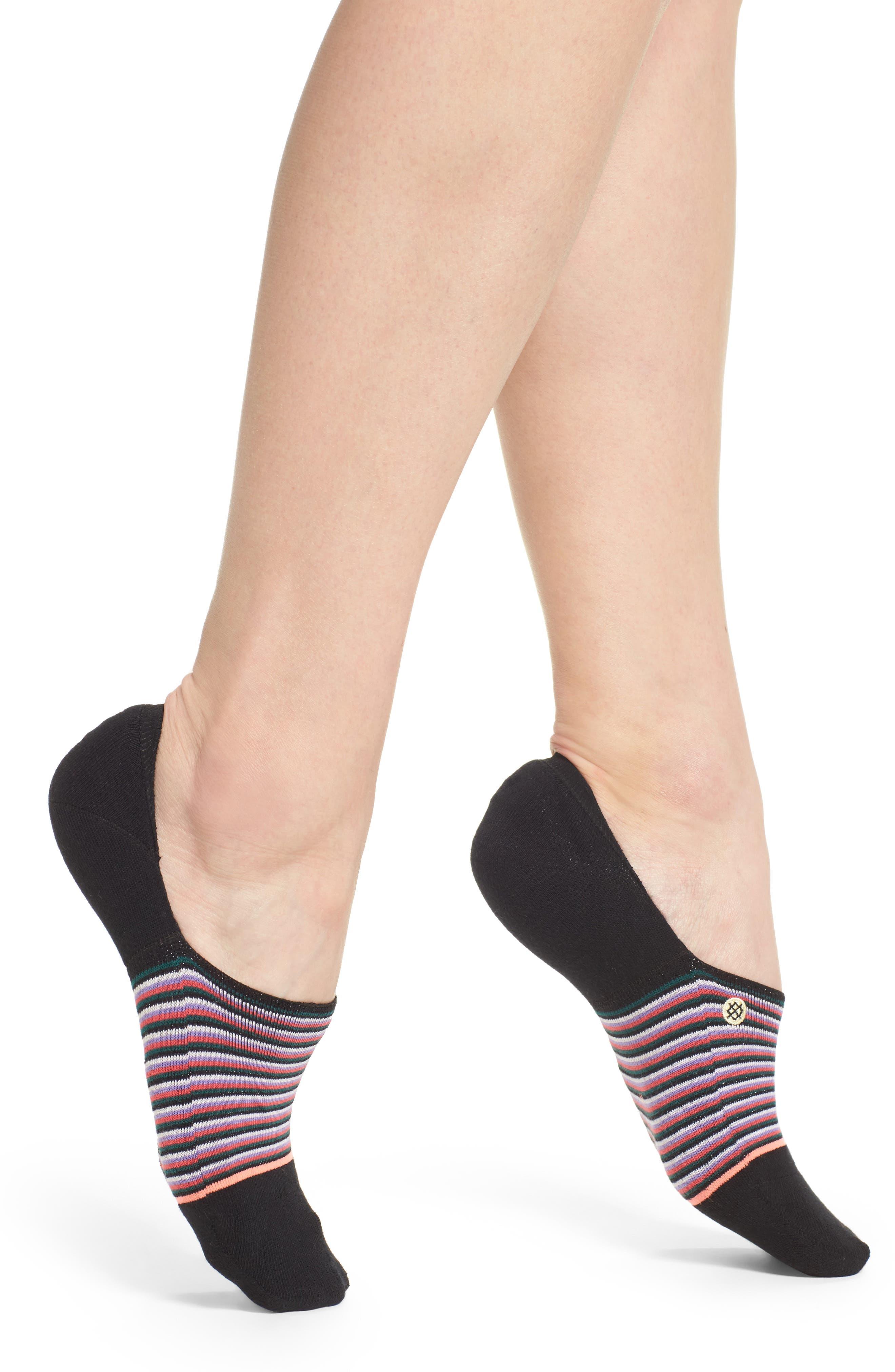 Summerland No-Show Socks,                             Main thumbnail 1, color,                             Black