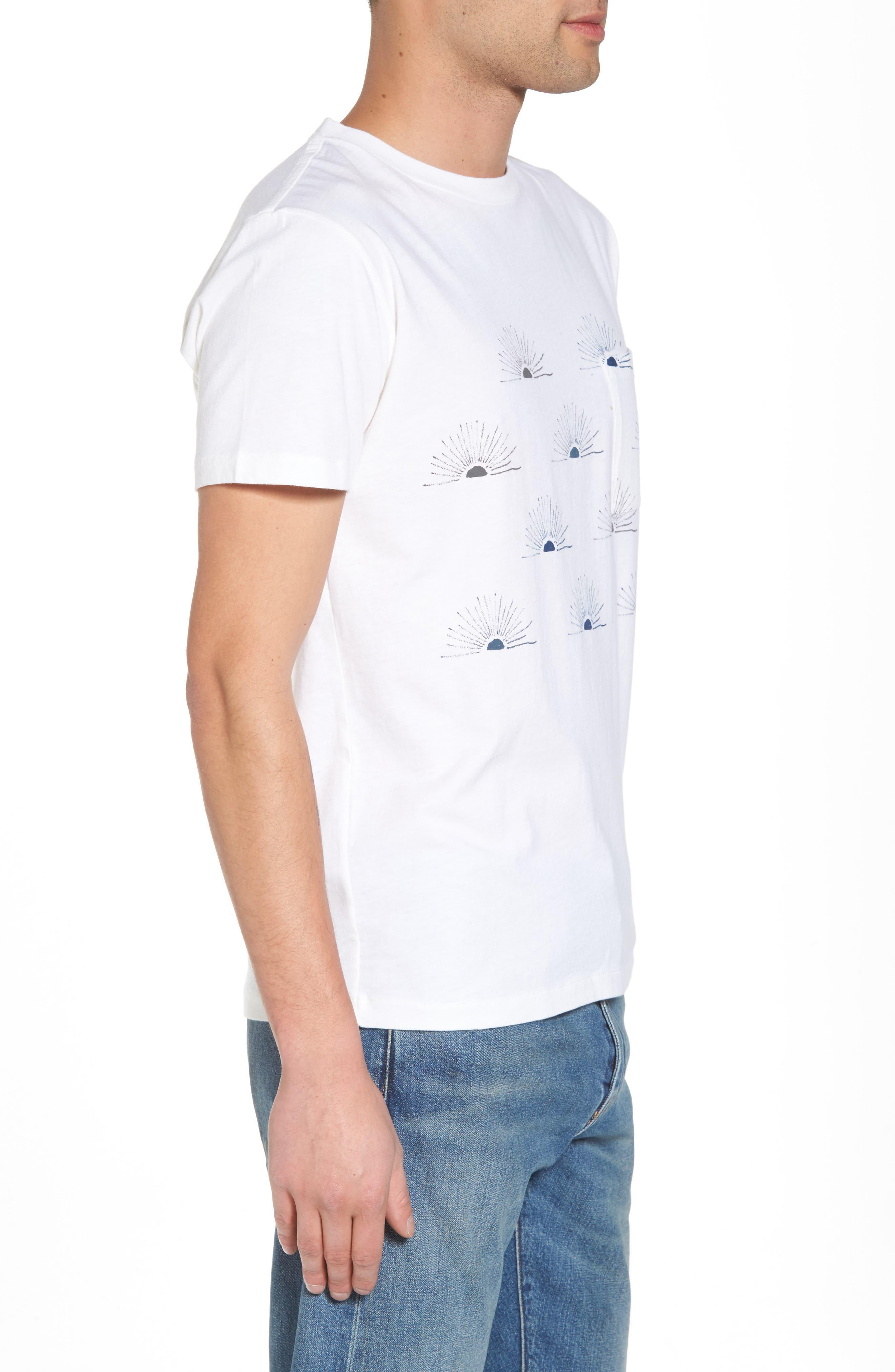 Graphic Pocket T-Shirt,                             Alternate thumbnail 3, color,                             All Over Sunrise Blue