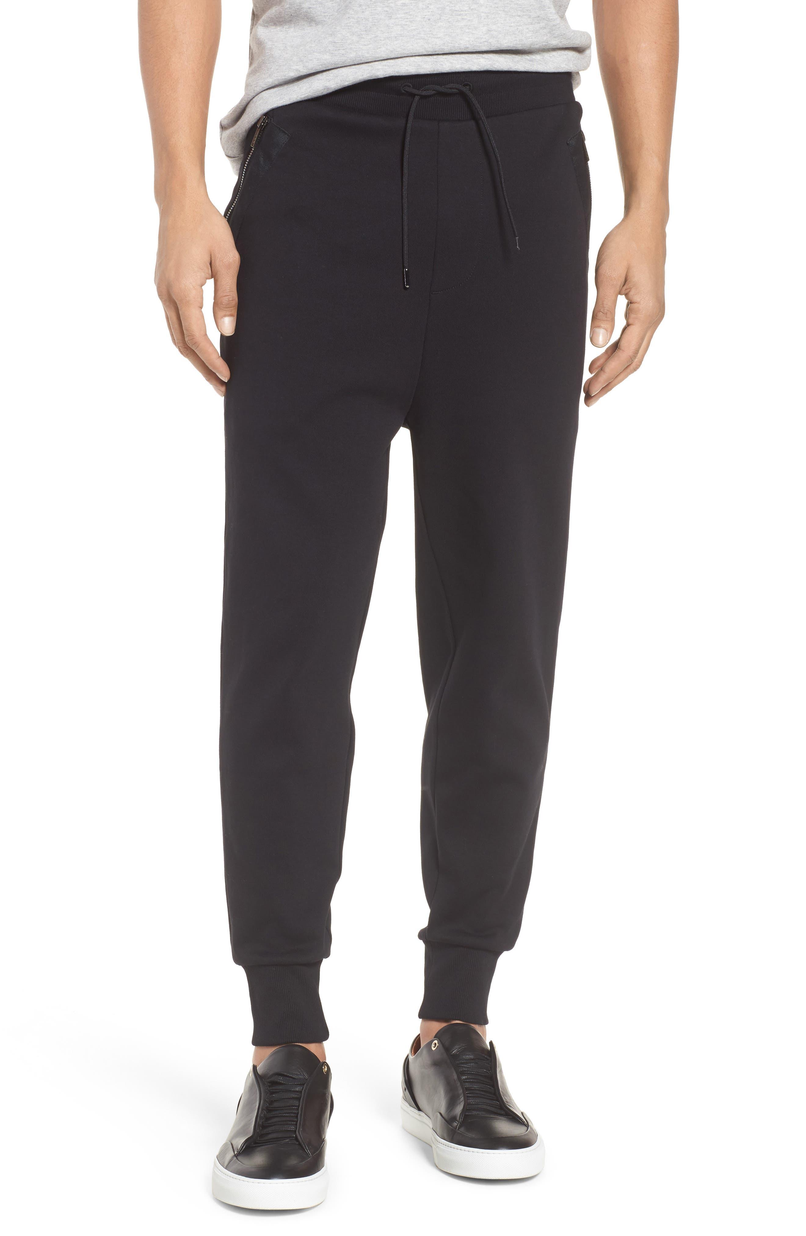 Daring Relaxed Fit Sweatpants,                         Main,                         color, Black