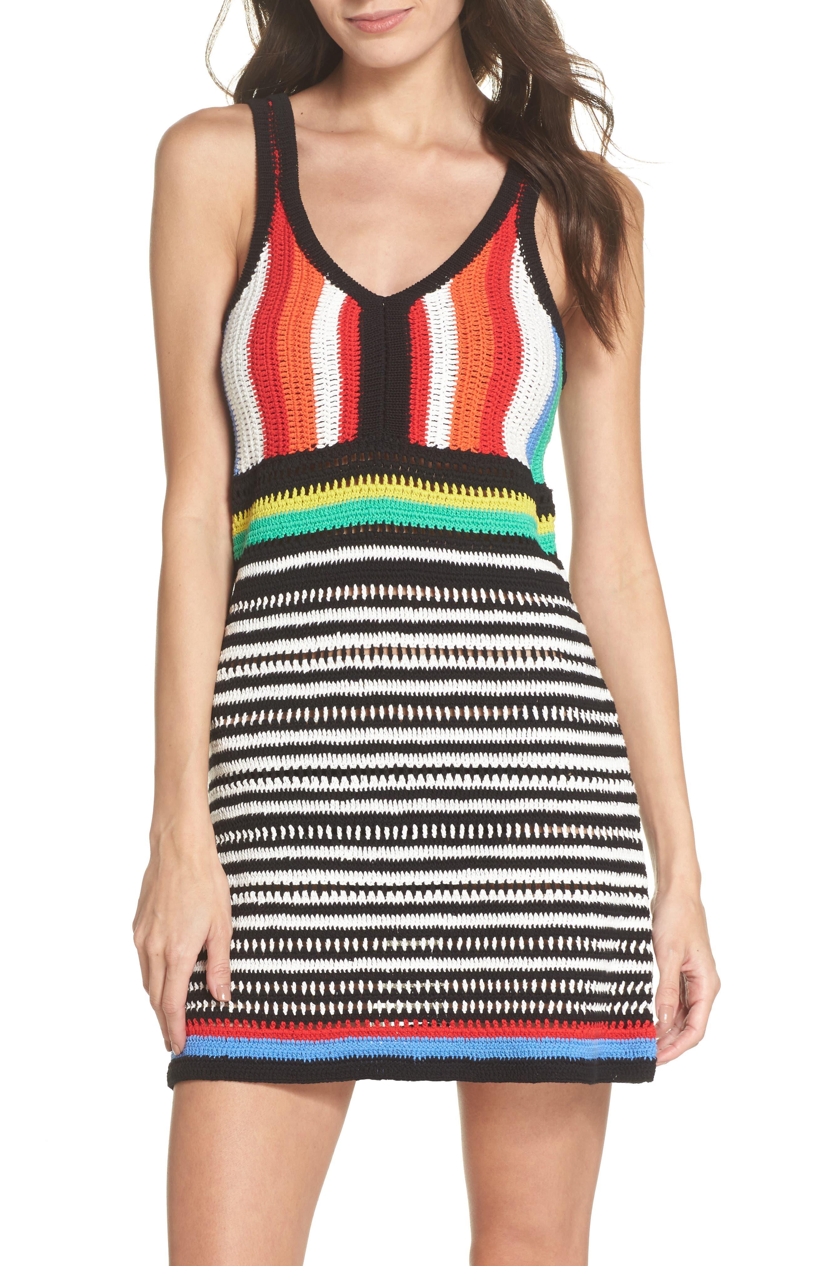 Sweater Cover-Up Dress,                         Main,                         color, Hydrangea Multi
