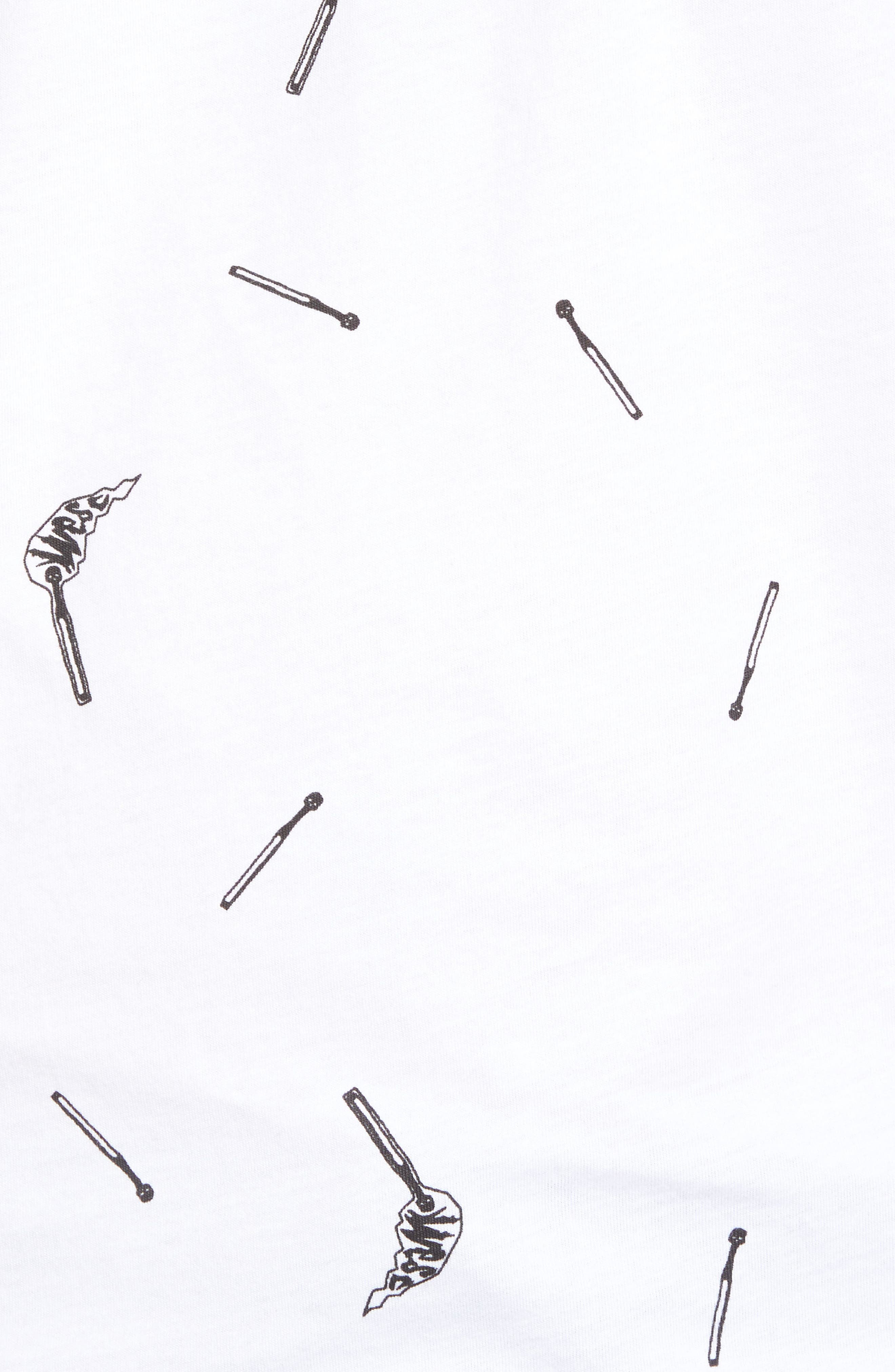Maxwell Matchsticks T-Shirt,                             Alternate thumbnail 5, color,                             White