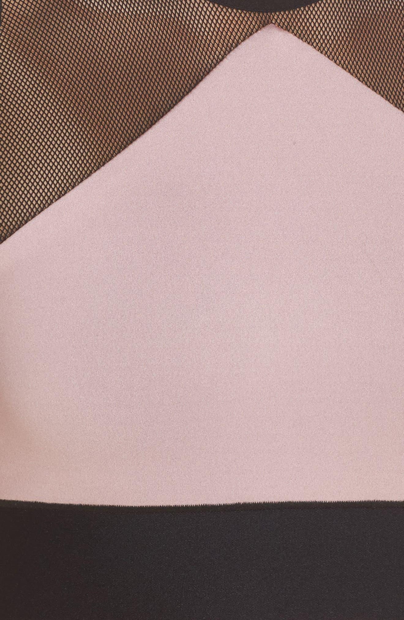 Adrift Sport Mesh Bikini Top,                             Alternate thumbnail 8, color,                             Blush Pink