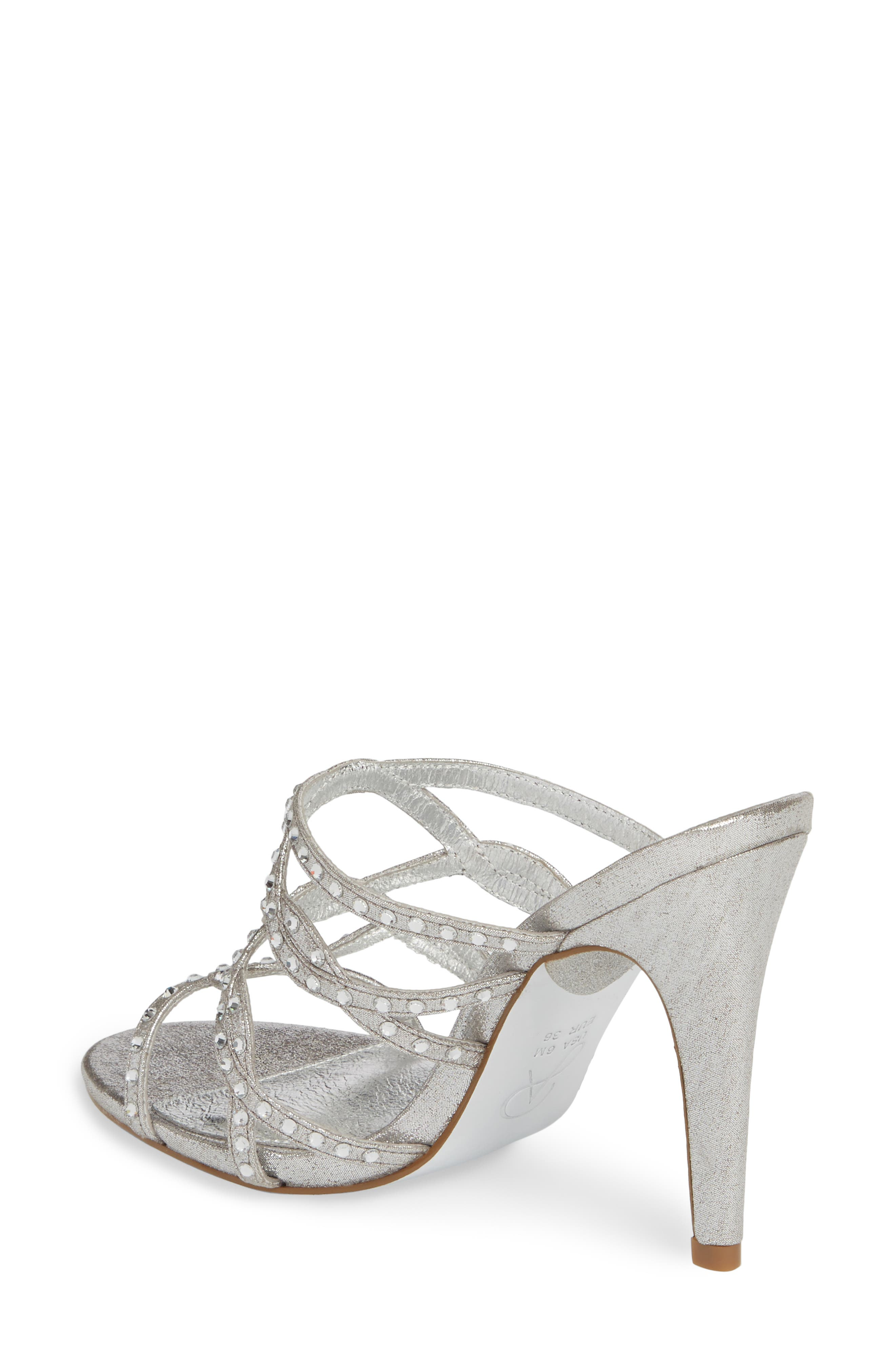 Emma Strappy Sandal,                             Alternate thumbnail 2, color,                             Silver Fabric