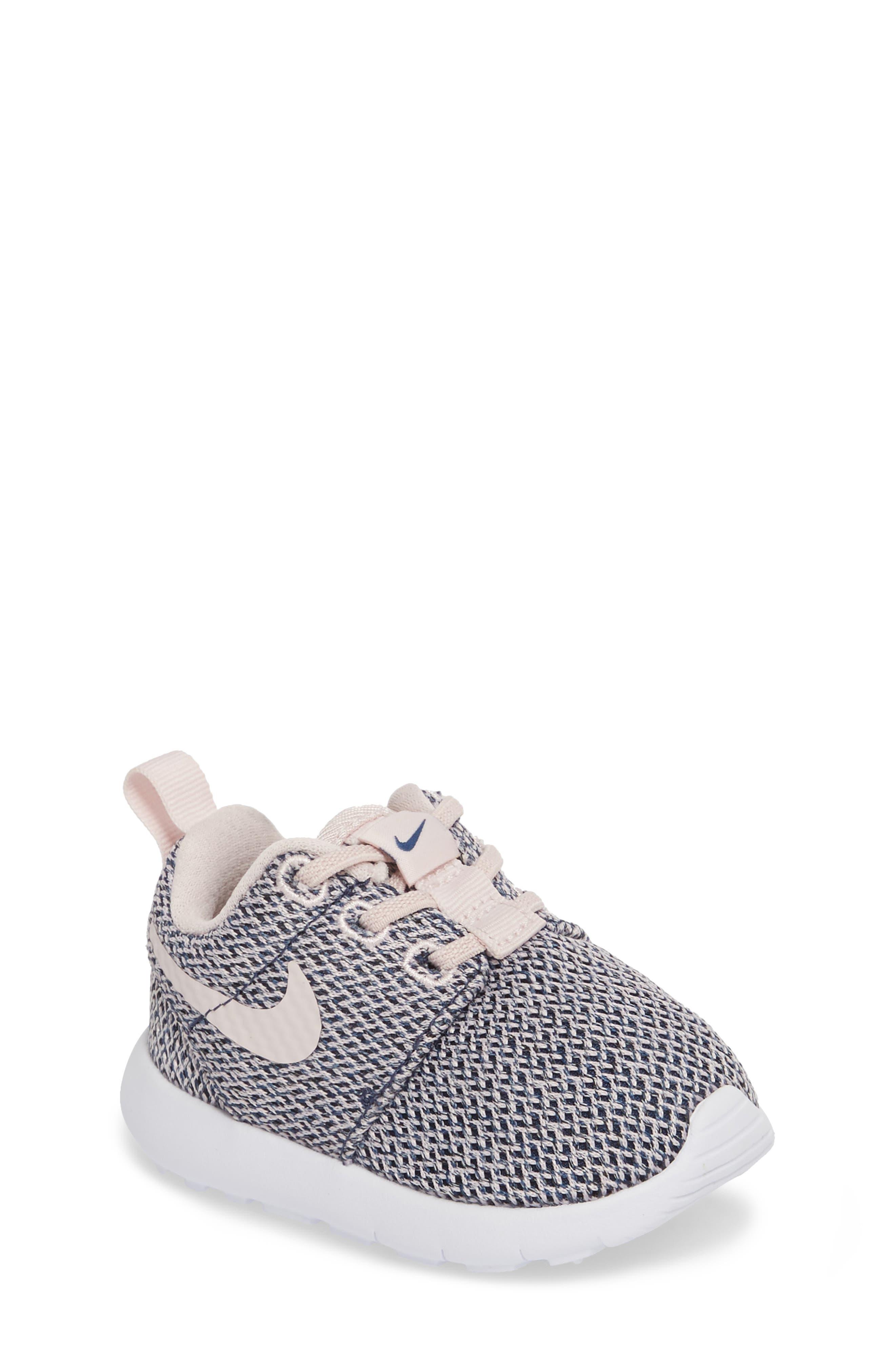 Alternate Image 1 Selected - Nike Roshe Run Sneaker (Baby, Walker & Toddler)