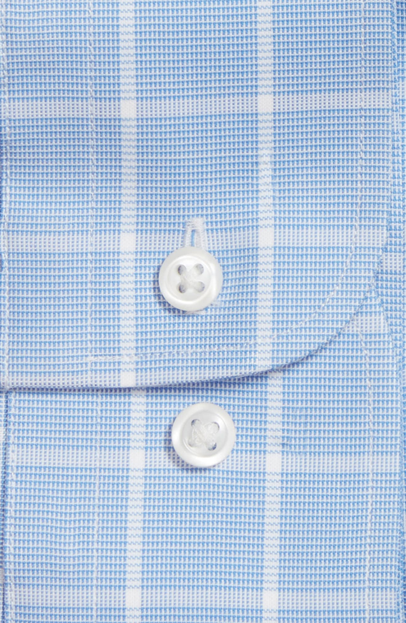 Tech-Smart Traditional Fit Stretch Windowpane Dress Shirt,                             Alternate thumbnail 3, color,                             Blue Azurite