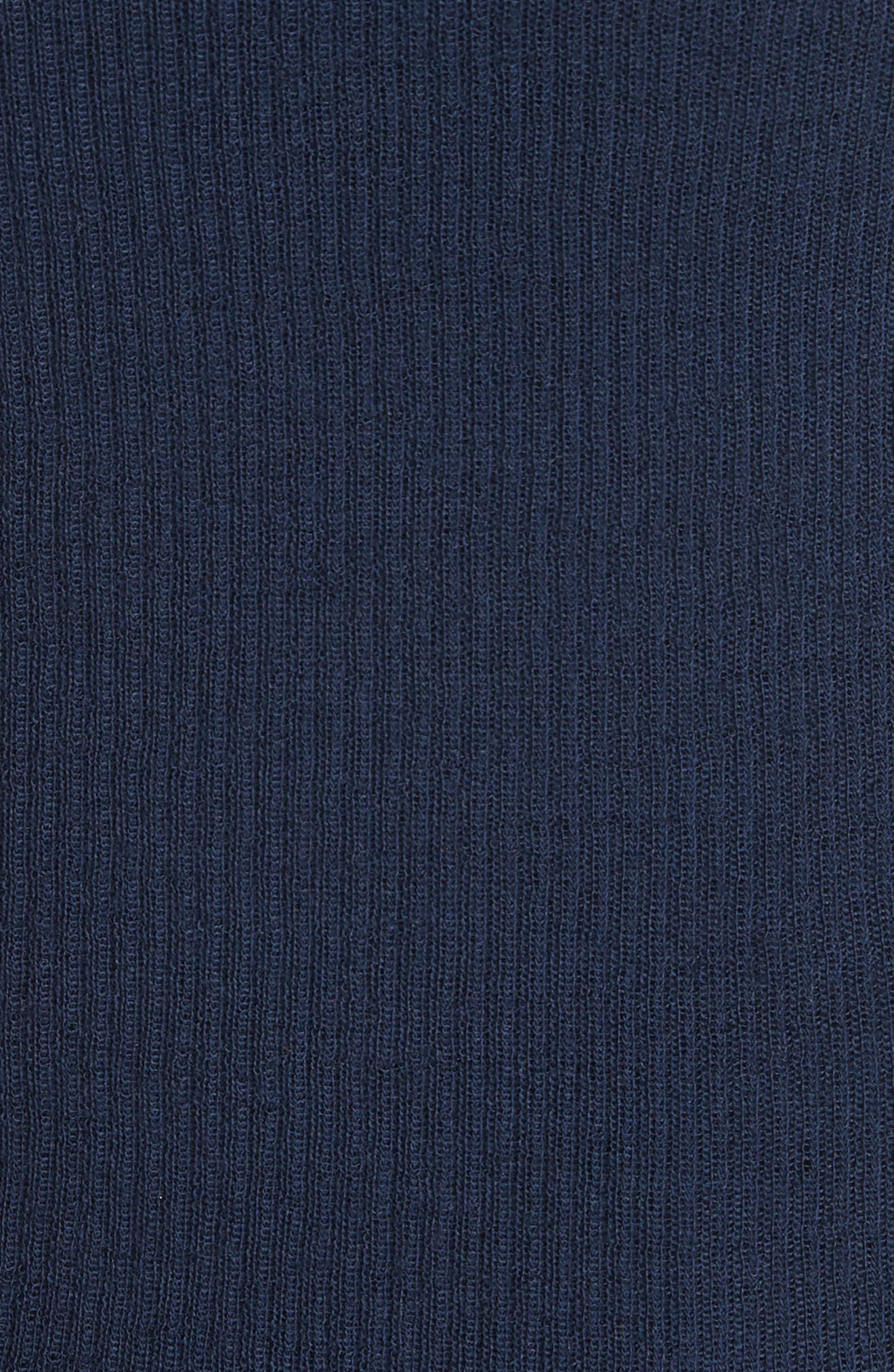 Stripe Cuff Wool Sweater,                             Alternate thumbnail 5, color,                             Coastal/ Optic White