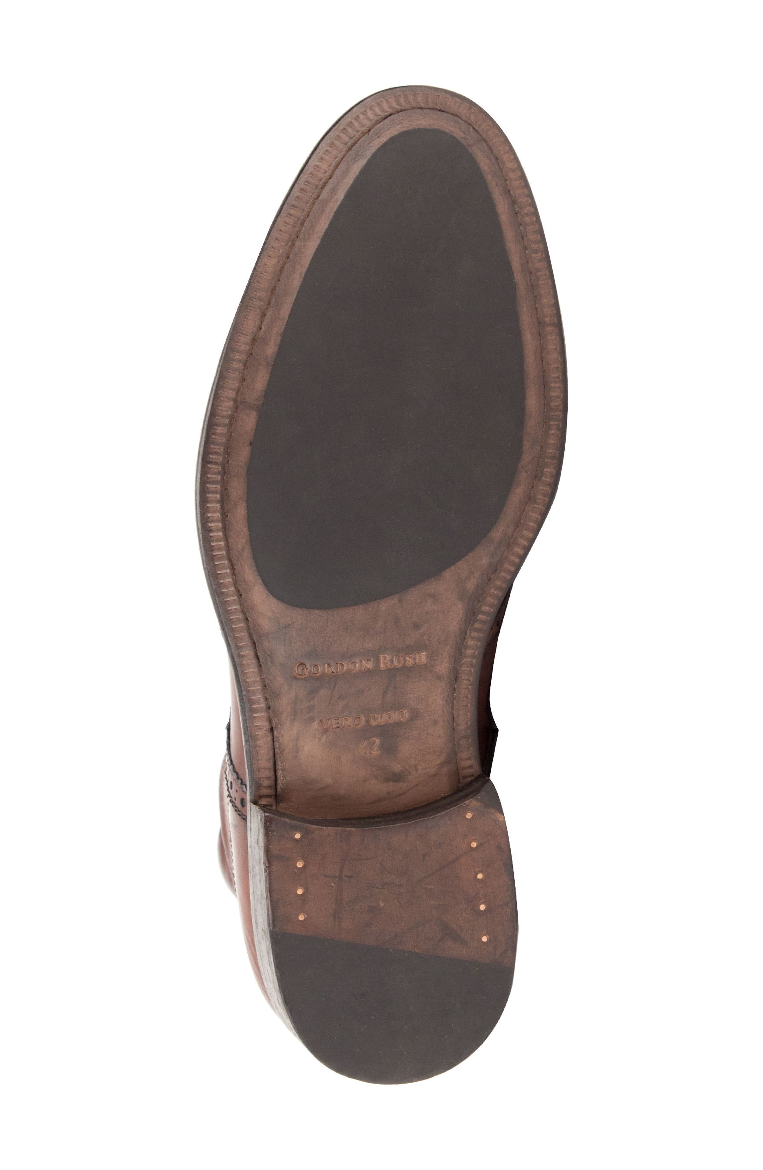 Maxfield Wingtip Boot,                             Alternate thumbnail 6, color,                             Cognac Leather