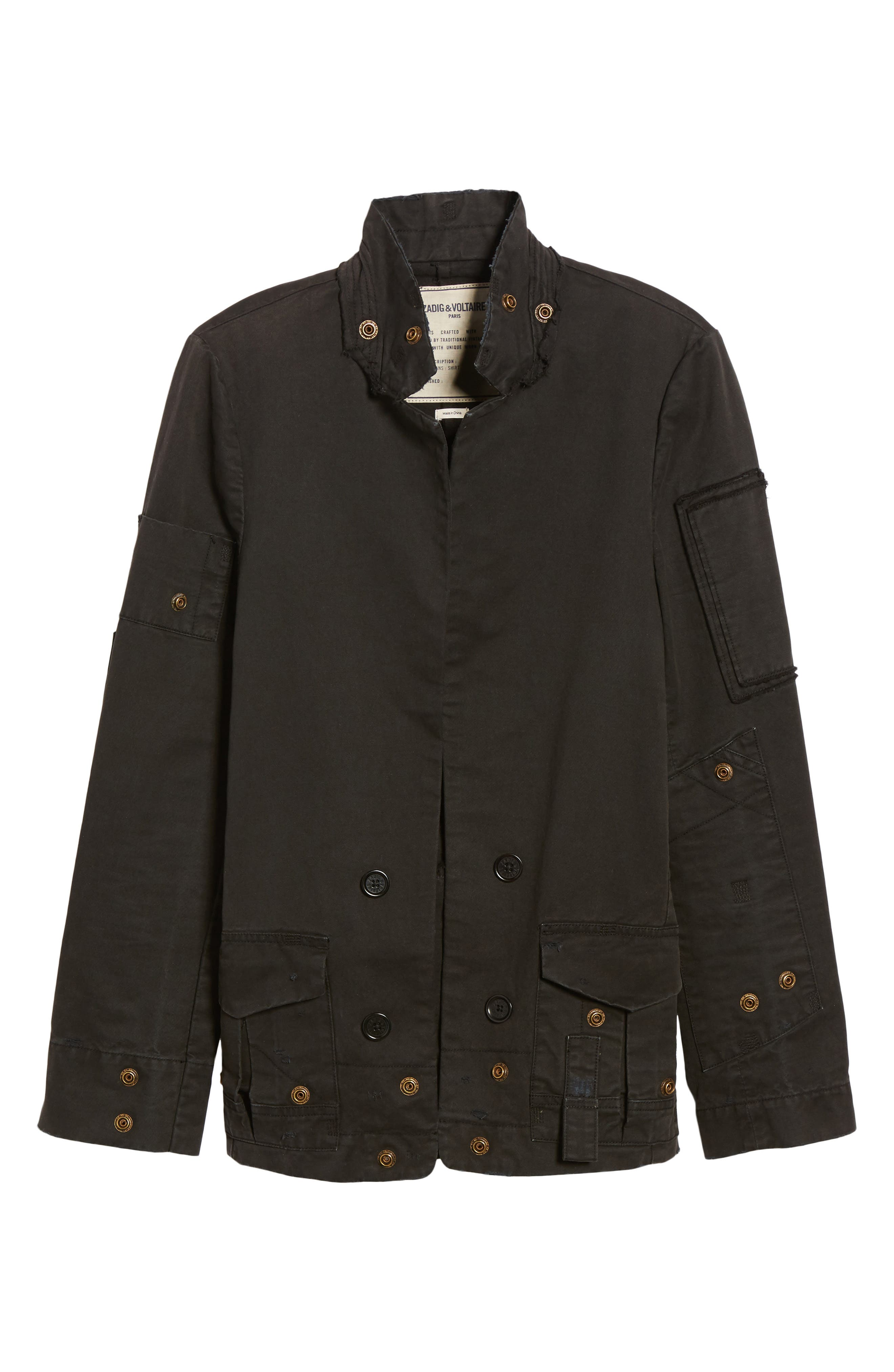 Vladimir Grunge Jacket,                             Alternate thumbnail 6, color,                             Black