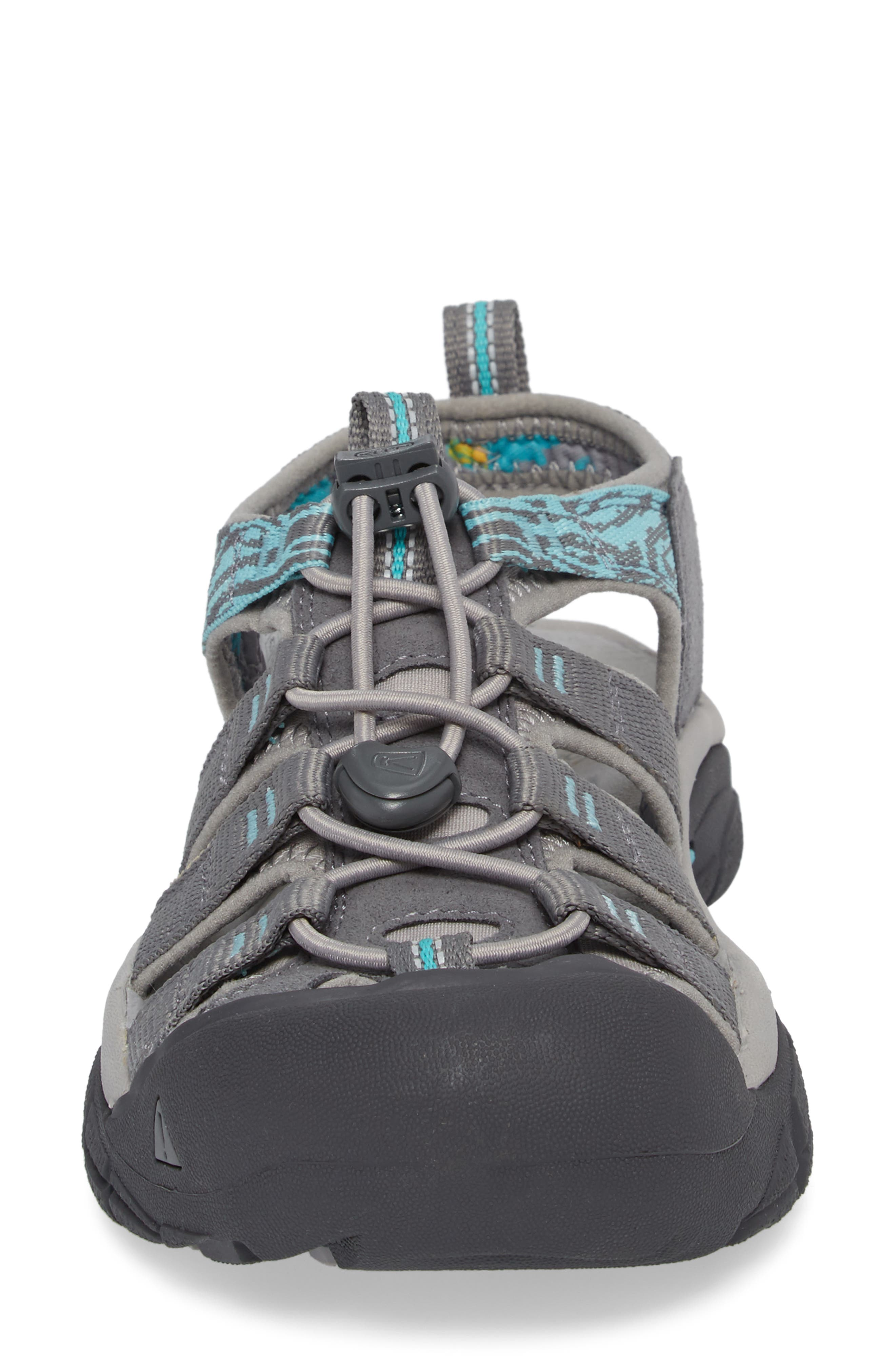 Newport Hydro Sandal,                             Alternate thumbnail 4, color,                             Steel Grey/ Blue Turquoise
