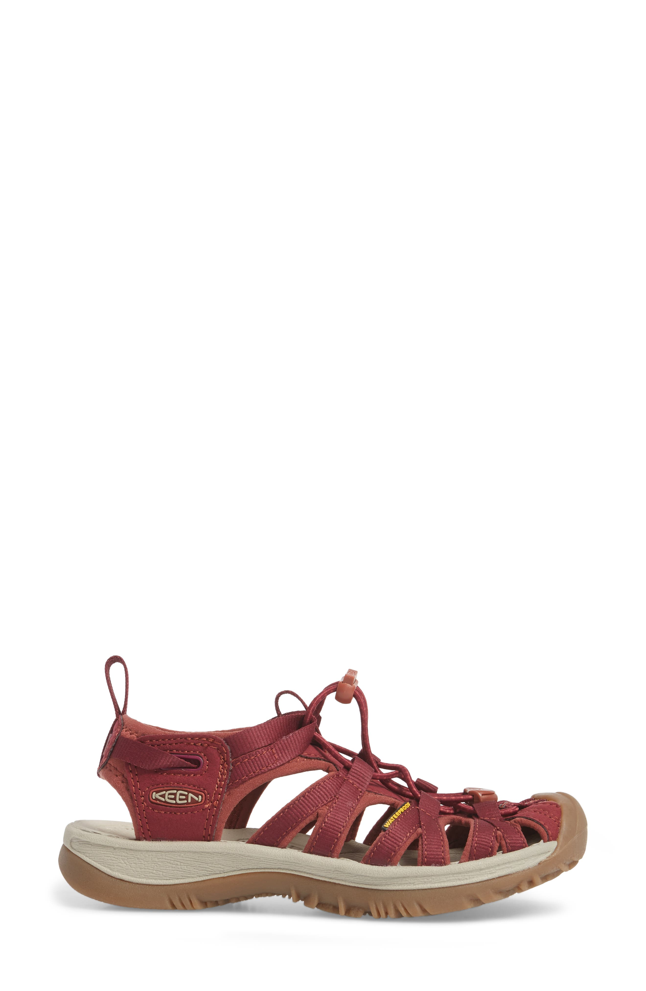 'Whisper' Water Friendly Sport Sandal,                             Alternate thumbnail 3, color,                             Rhododendron/ Marsala