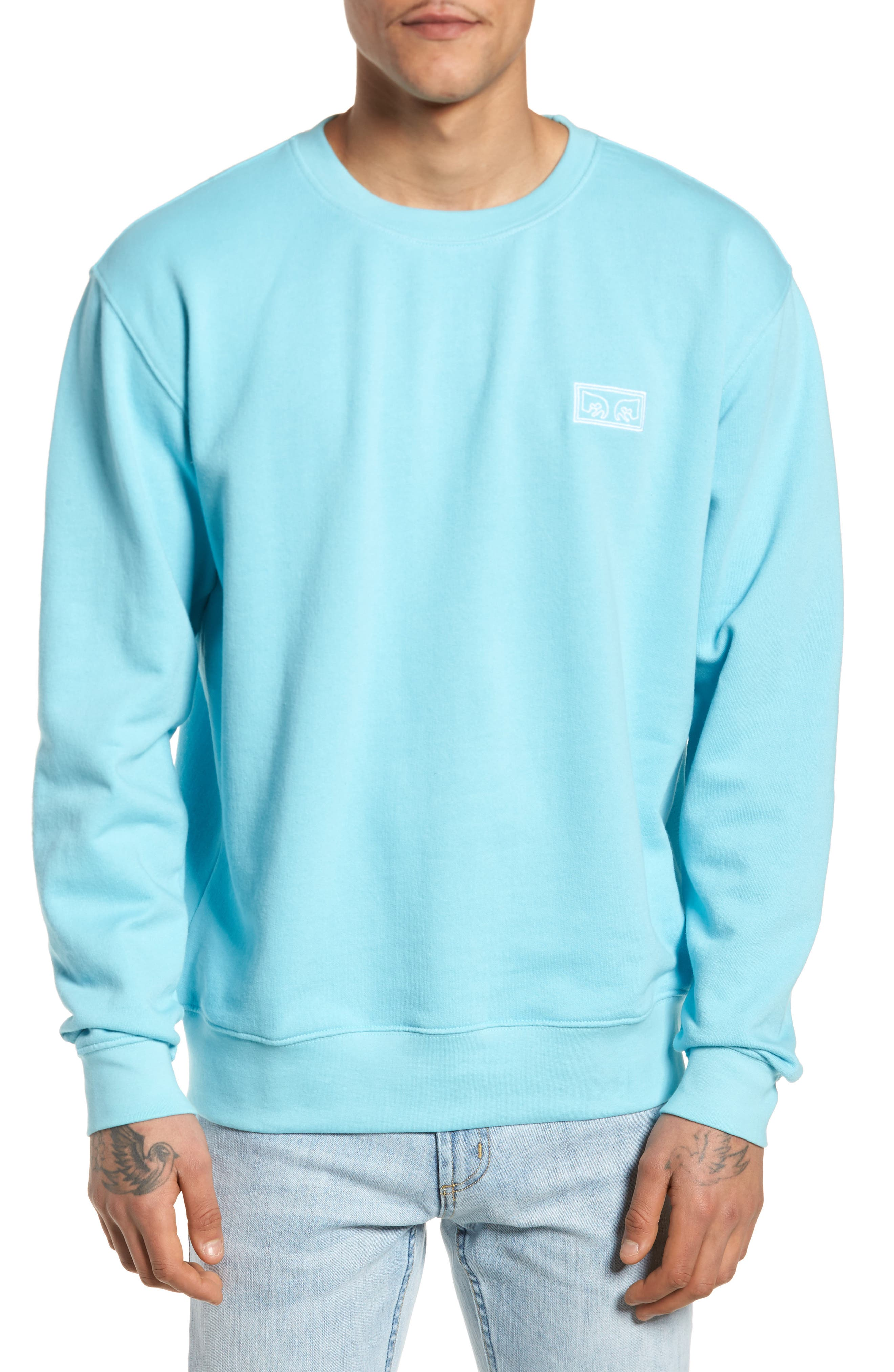 These Eyes Sweatshirt,                         Main,                         color, Cool Blue