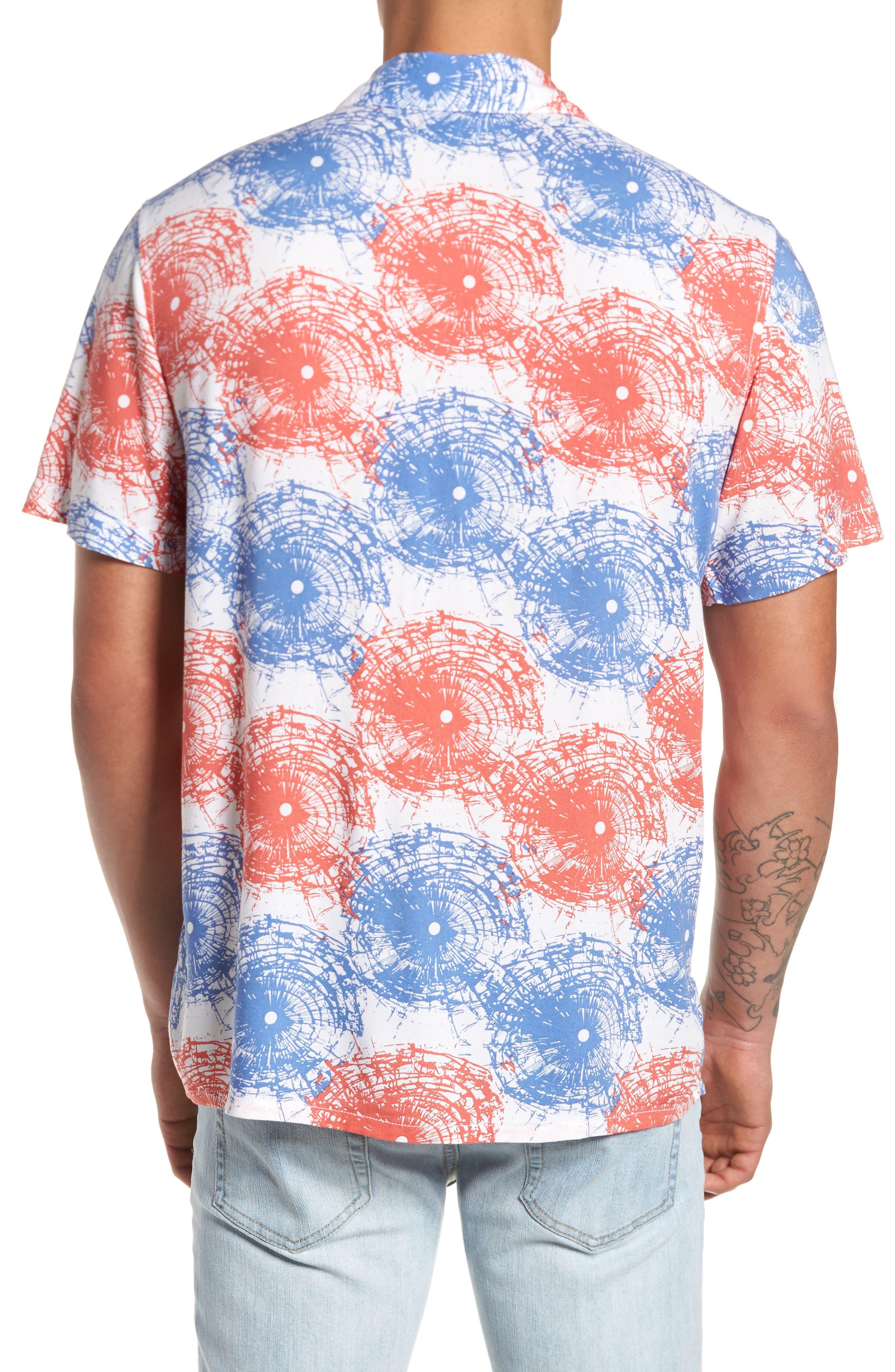 Shattered Woven Shirt,                             Alternate thumbnail 2, color,                             Red Multi