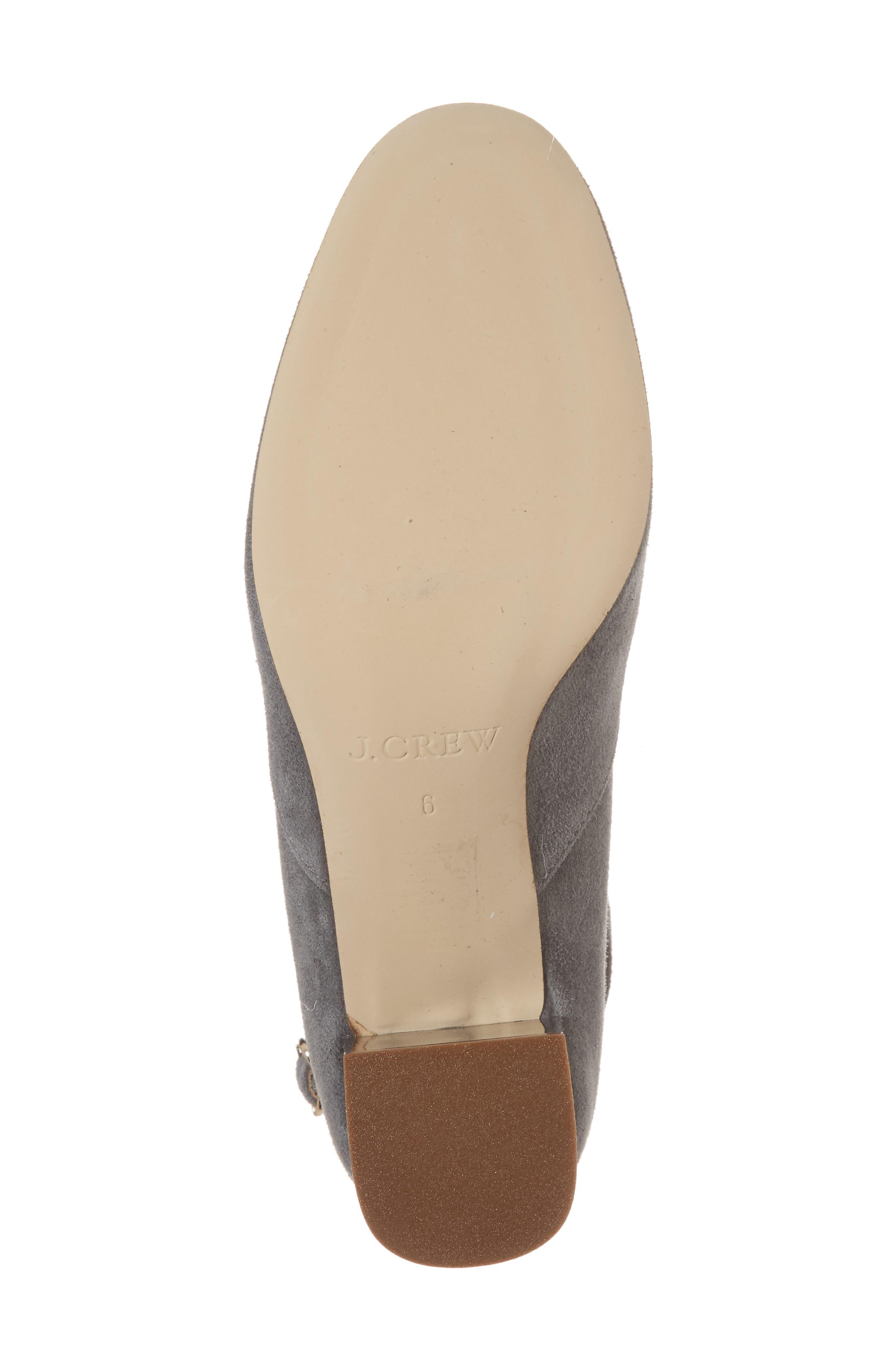 Leonard Ankle Strap Pump,                             Alternate thumbnail 6, color,                             Dusty Slate Leather