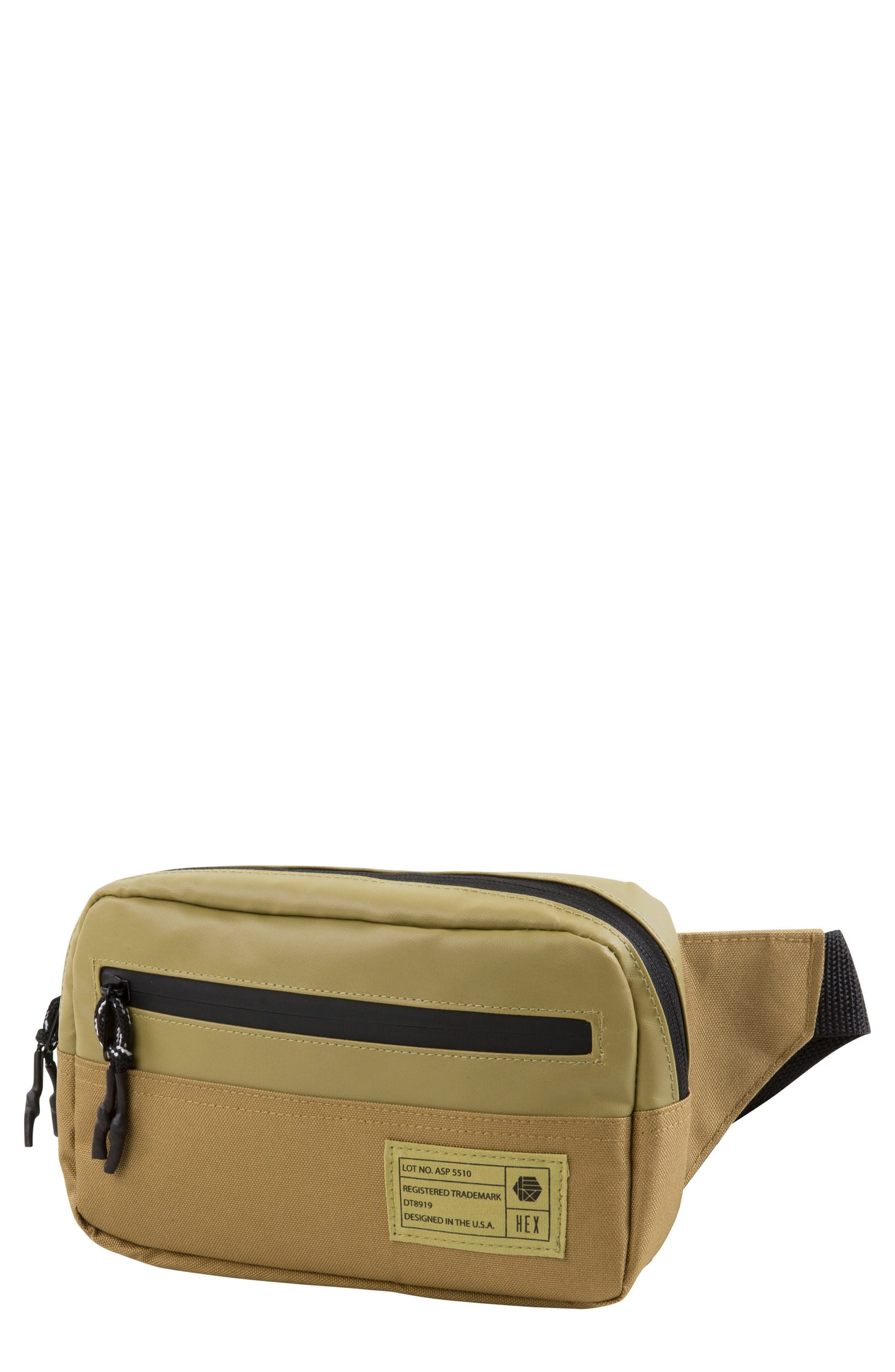 Aspect Collection Water Resistant Waist Pack,                             Main thumbnail 1, color,                             Tan