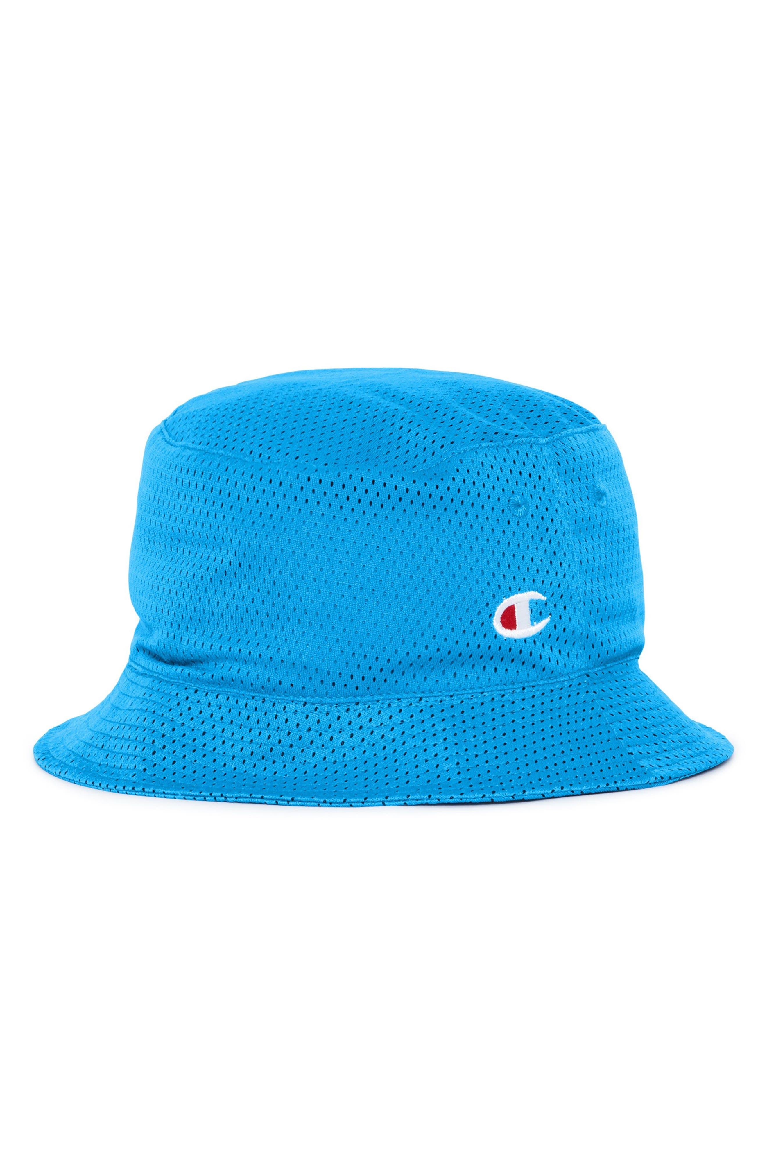 Reversible Mesh Bucket Hat,                         Main,                         color, Hotline Blue/ Black