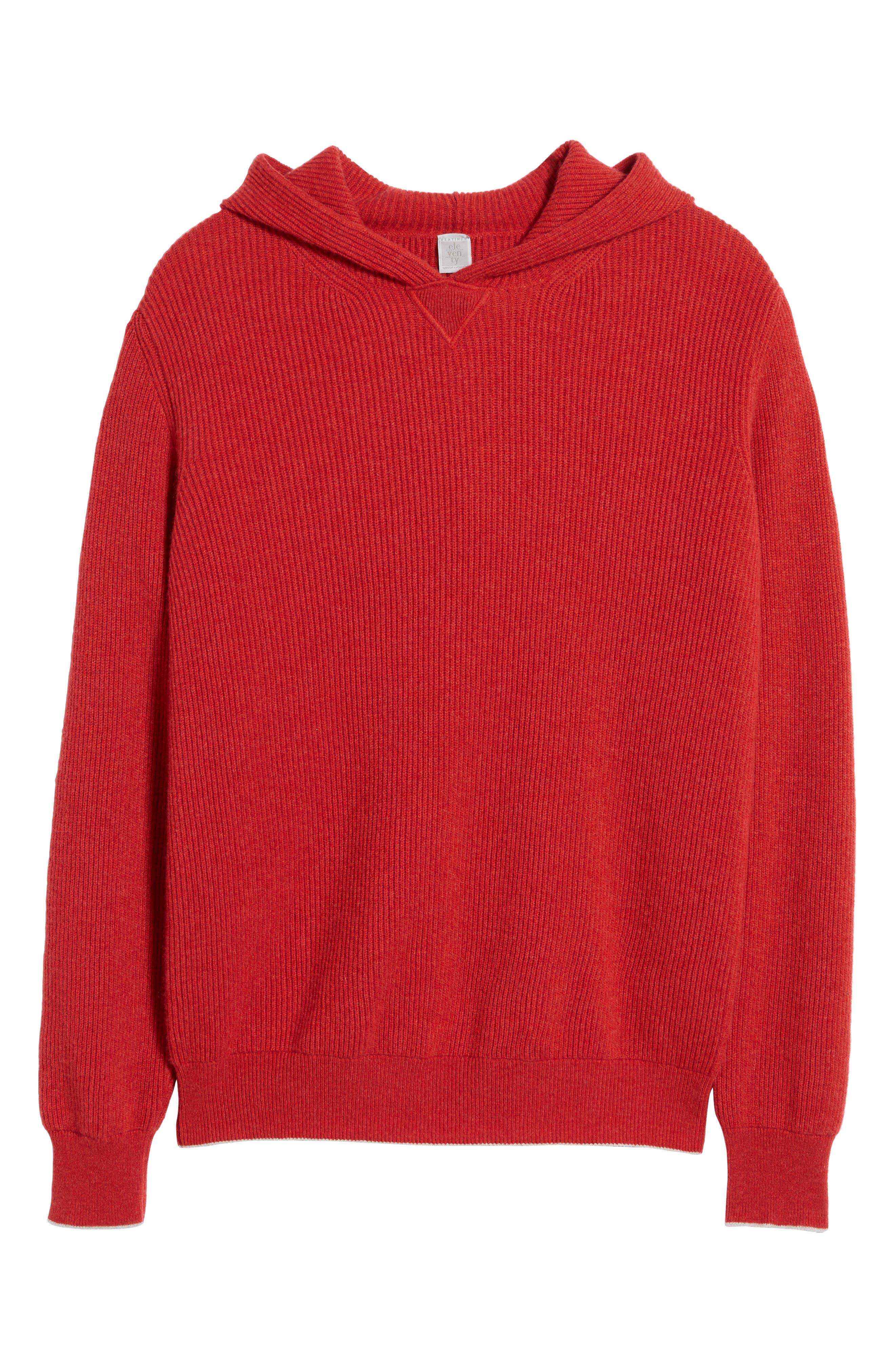 Cashmere Hoodie,                             Alternate thumbnail 6, color,                             Red