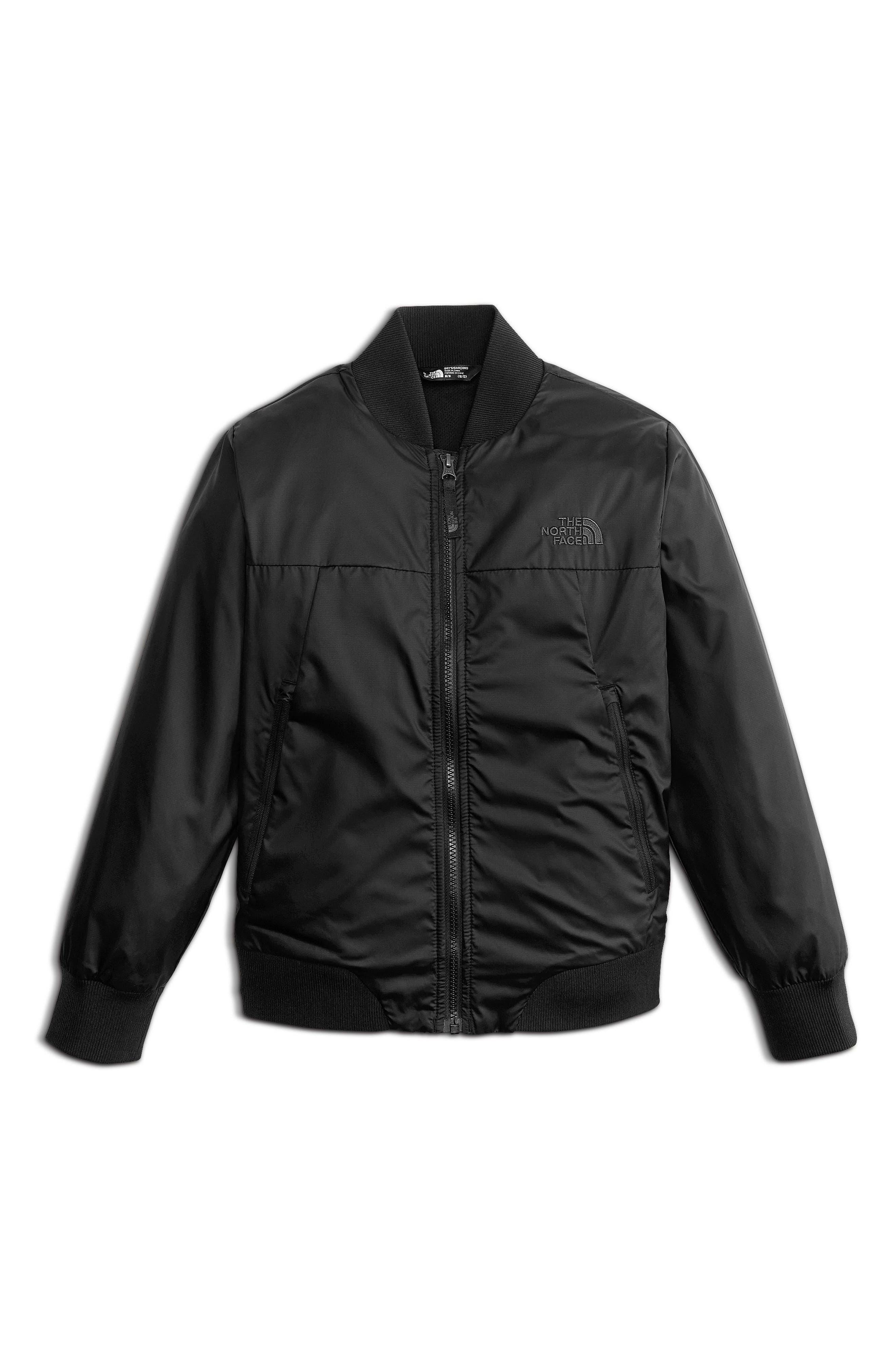 Flurry Windproof Bomber Jacket,                         Main,                         color, Tnf Black