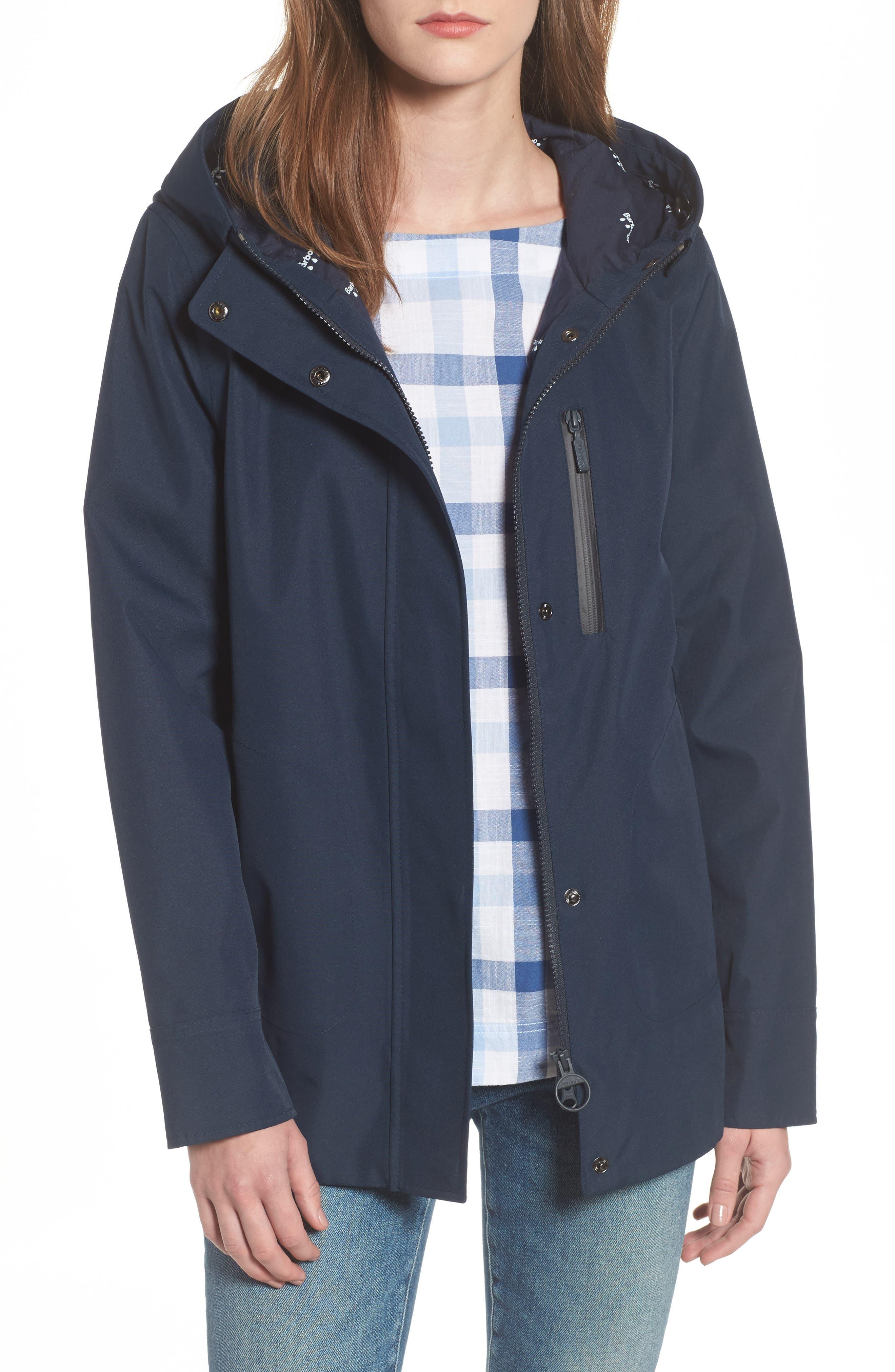 Glaciers Raincoat,                         Main,                         color, Navy