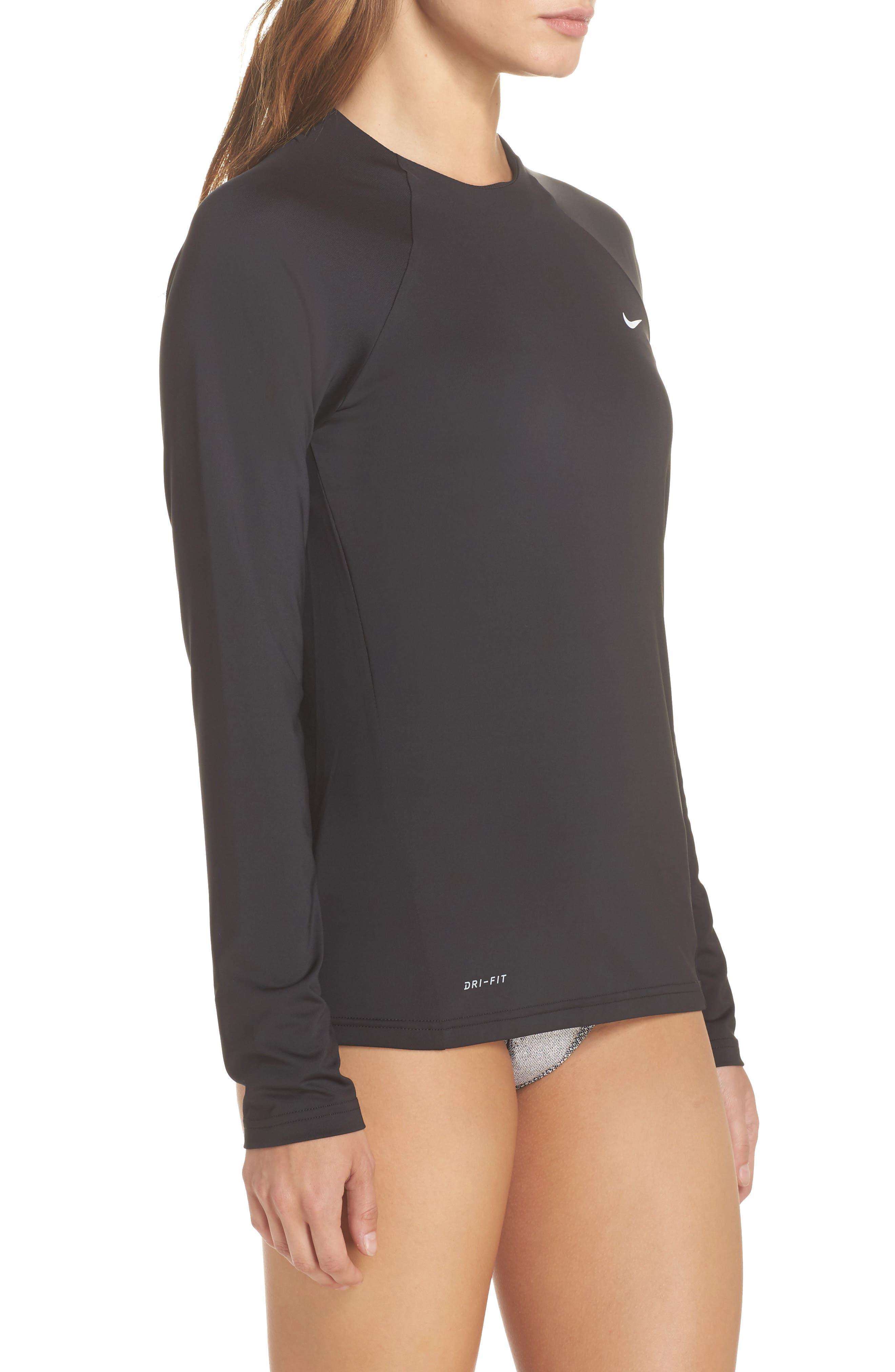 Hydroguard Surf Shirt,                             Alternate thumbnail 3, color,                             Black