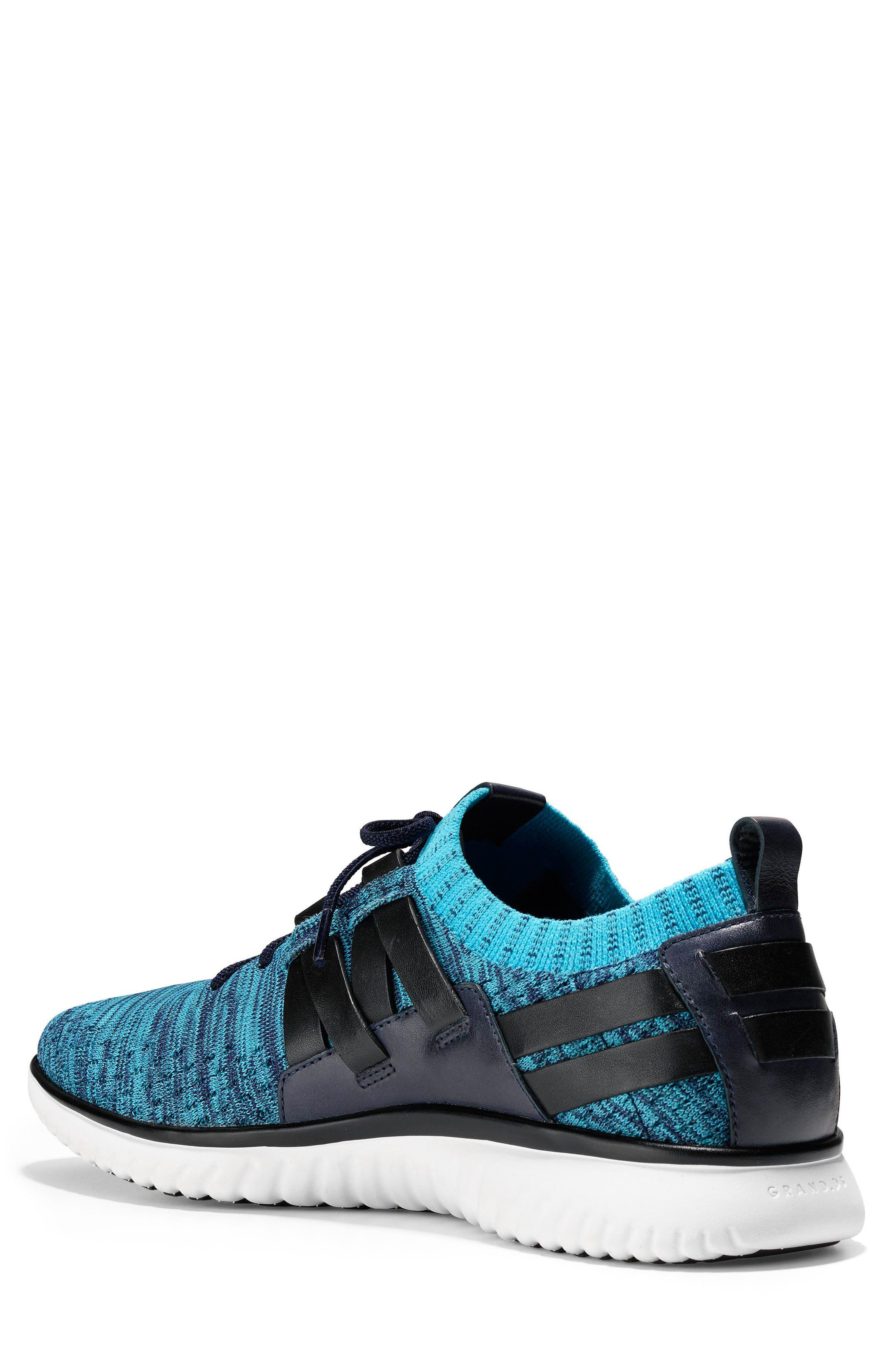 GrandMøtion Stitchlite<sup>™</sup> Woven Sneaker,                             Alternate thumbnail 2, color,                             Marine Blue