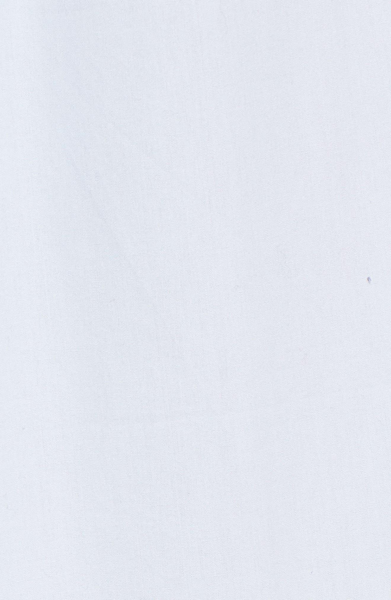 Poplin Tie Waist Dress,                             Alternate thumbnail 6, color,                             Pale Blue
