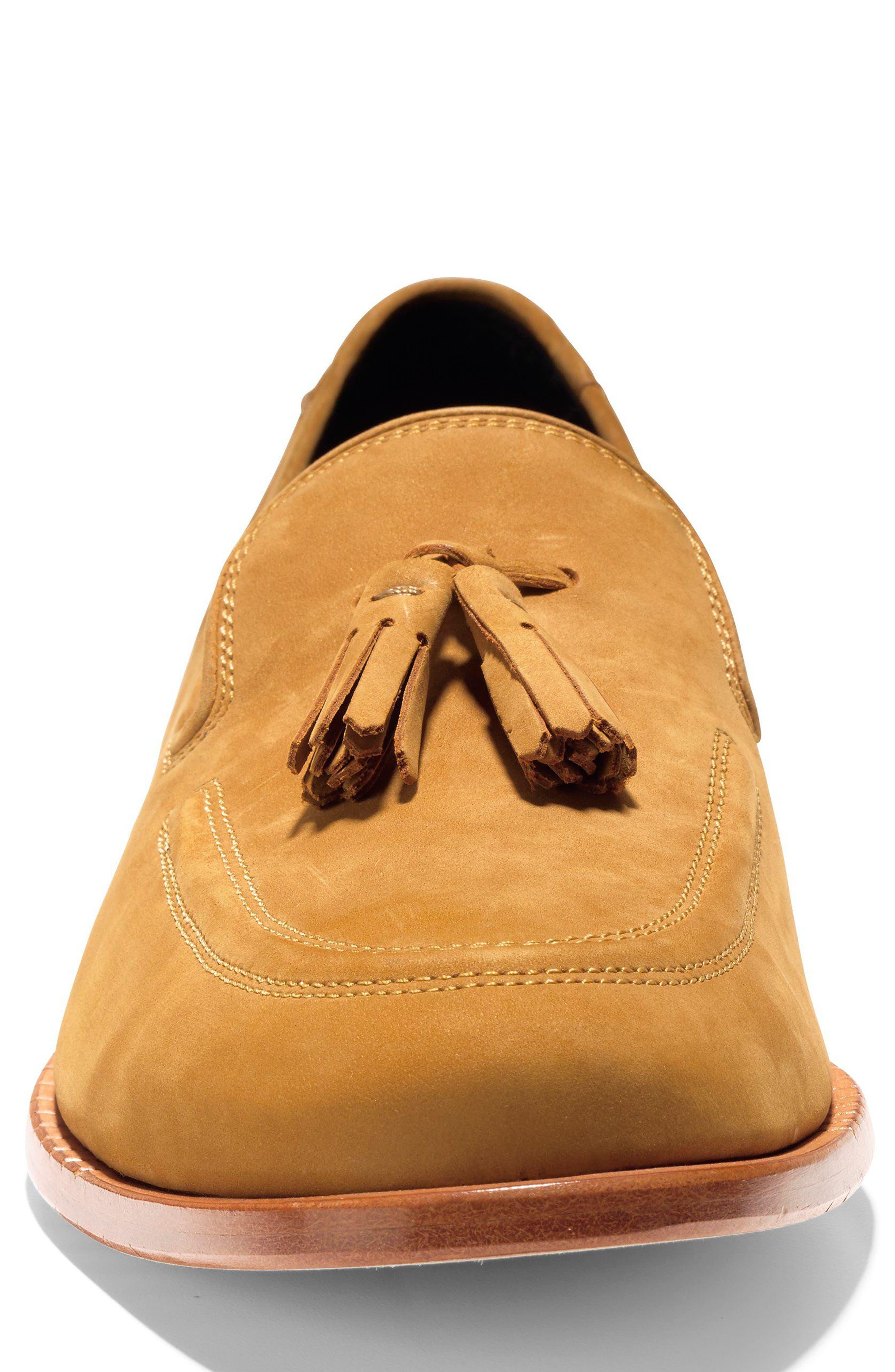 Washington Grand Tassel Loafer,                             Alternate thumbnail 4, color,                             Cathay Spice Nubuck