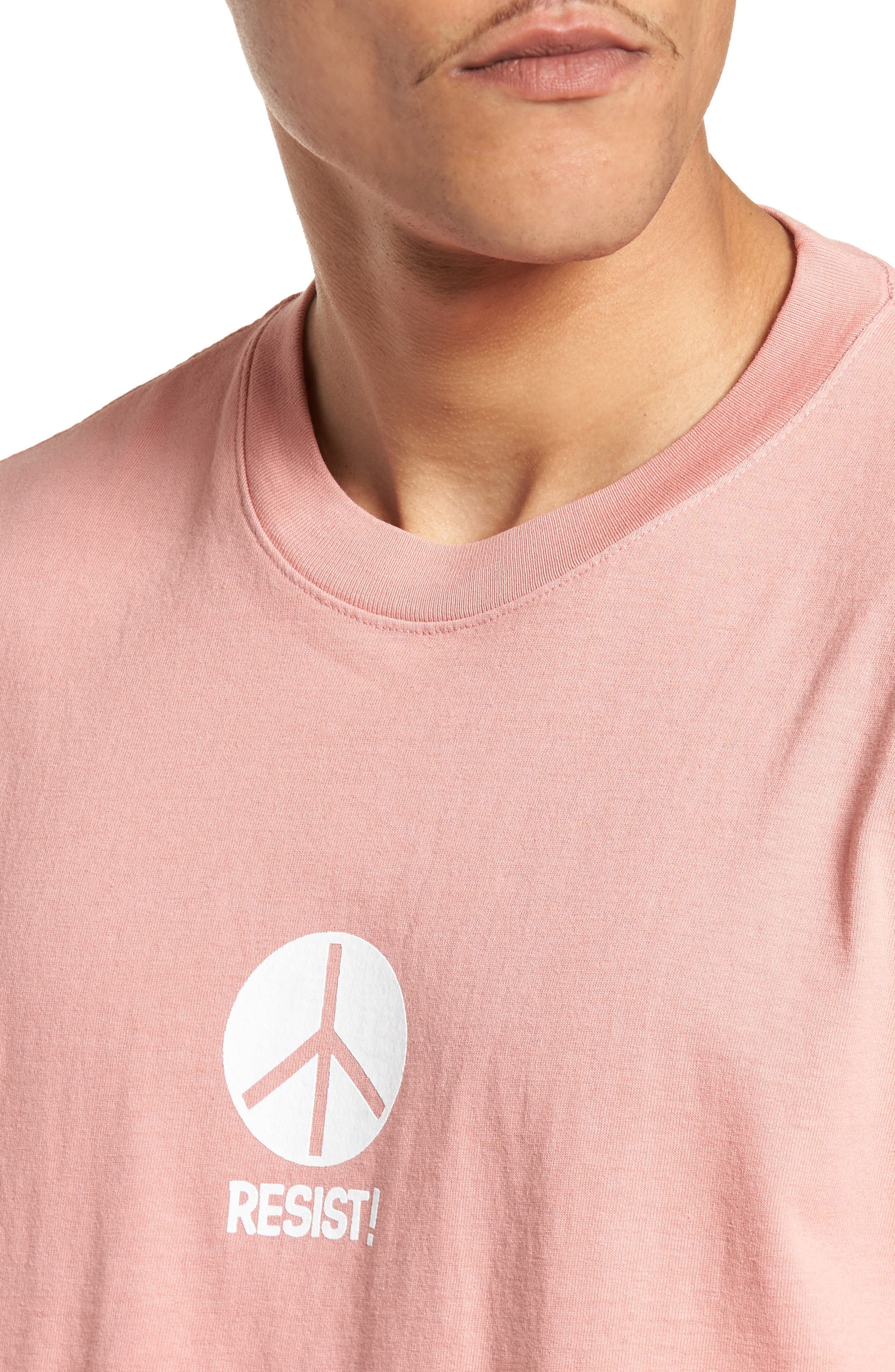 The Next Wave Boxy T-Shirt,                             Alternate thumbnail 4, color,                             Coral