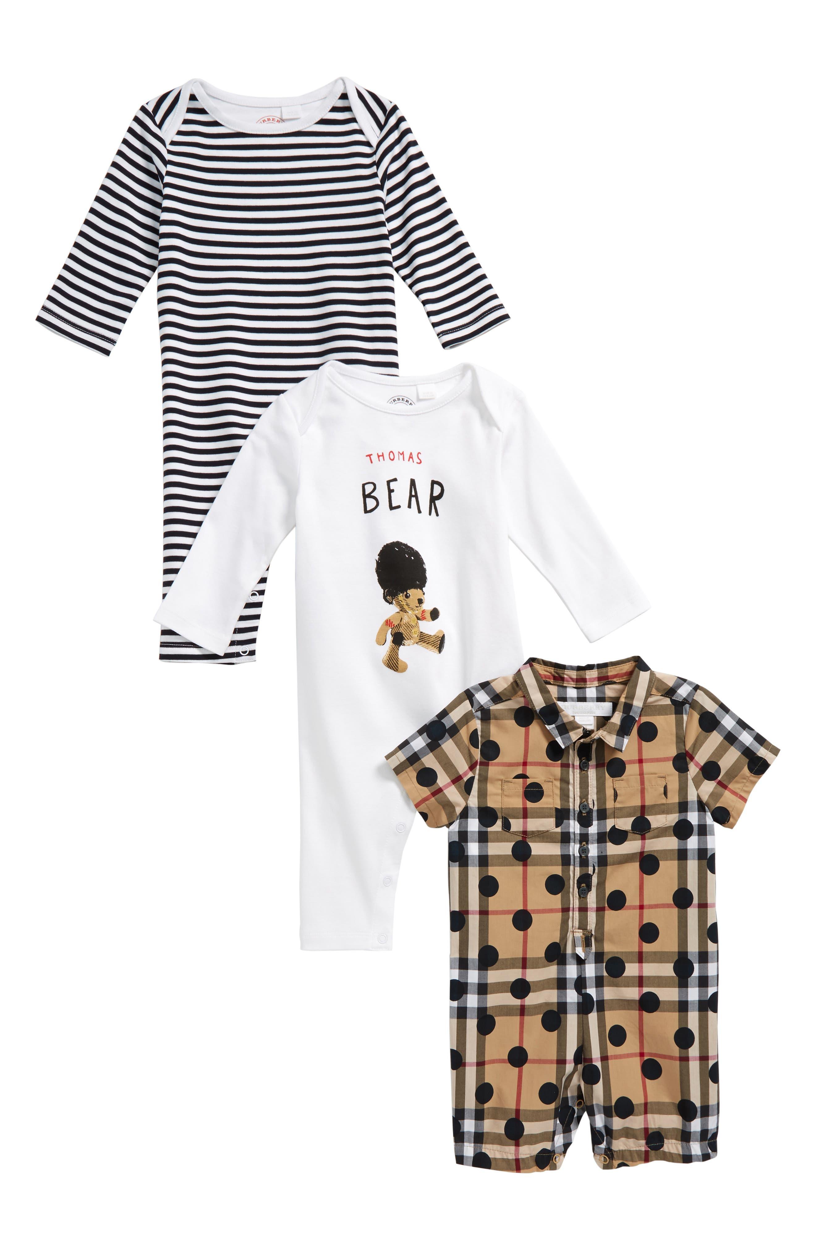 Burberry Thomas Bodysuit & Rompers Set (Baby Girls)