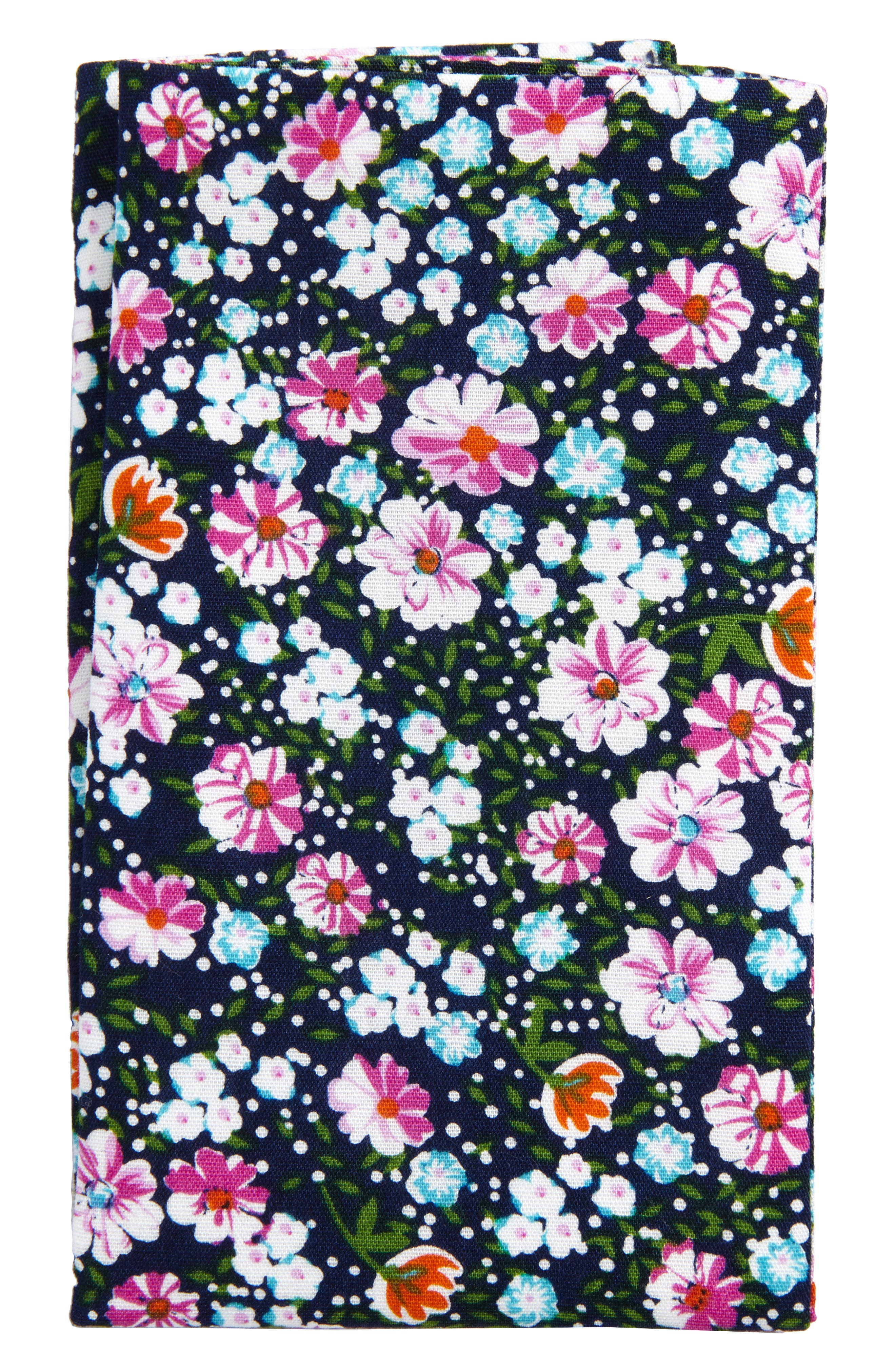The Perfect Pre-Folded Pocket Square,                             Main thumbnail 1, color,                             Navy Manzano