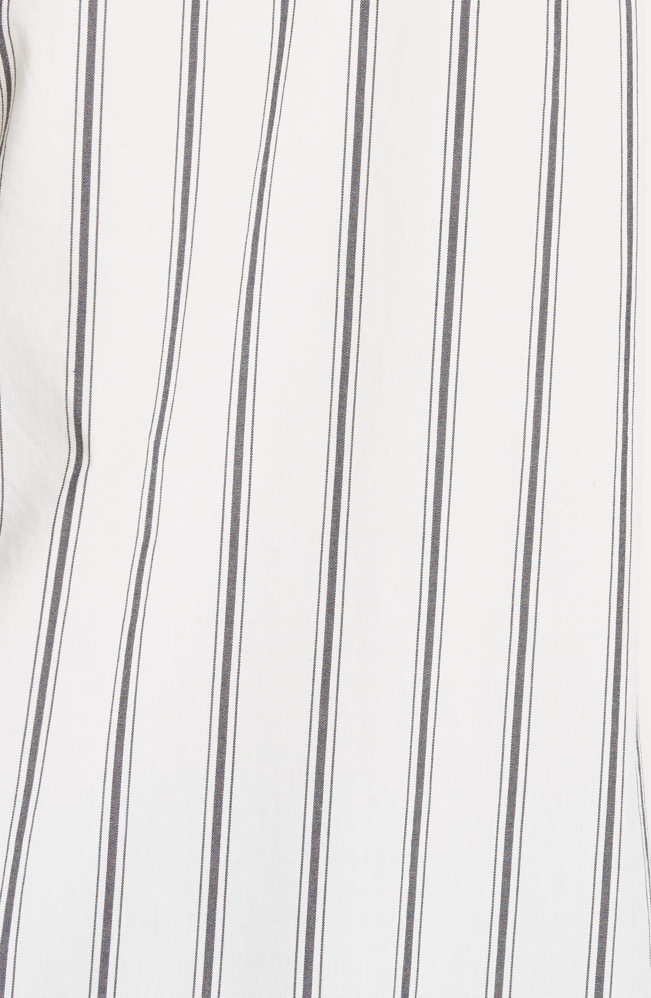 Poni Stripe Shirt,                             Alternate thumbnail 5, color,                             Porcelain