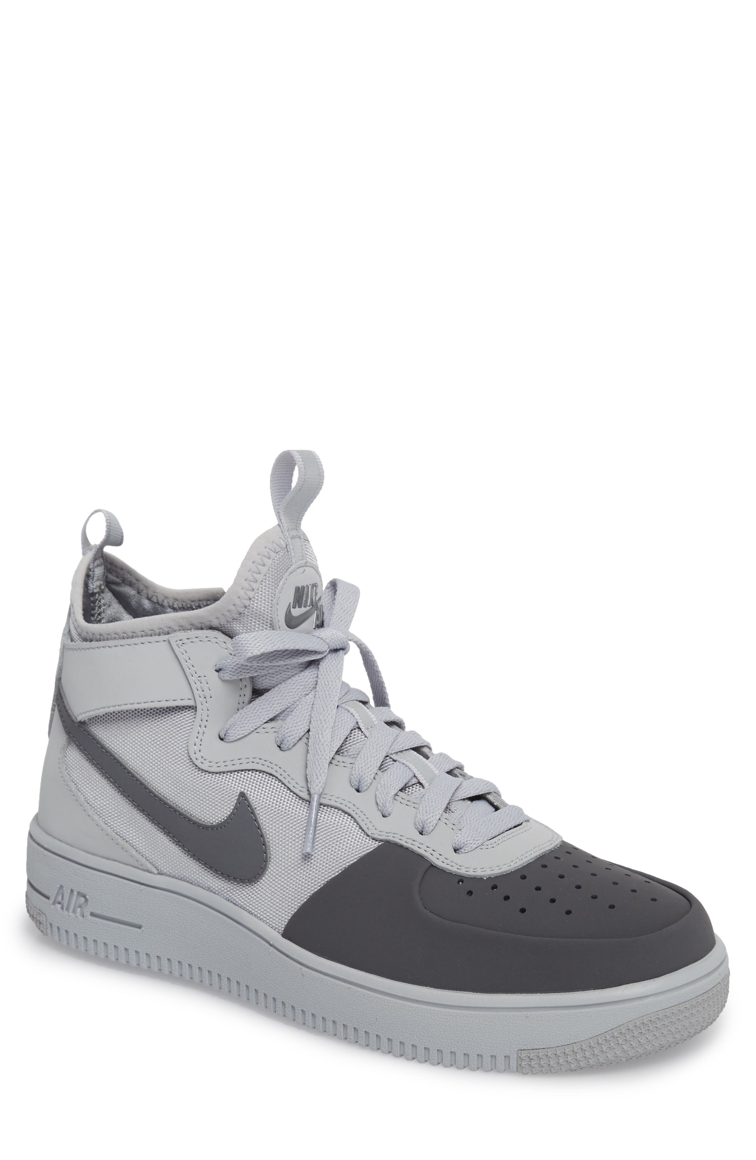 Air Force 1 Ultraforce Mid Tech Sneaker,                             Main thumbnail 1, color,                             Wolf Grey/ Dark Grey