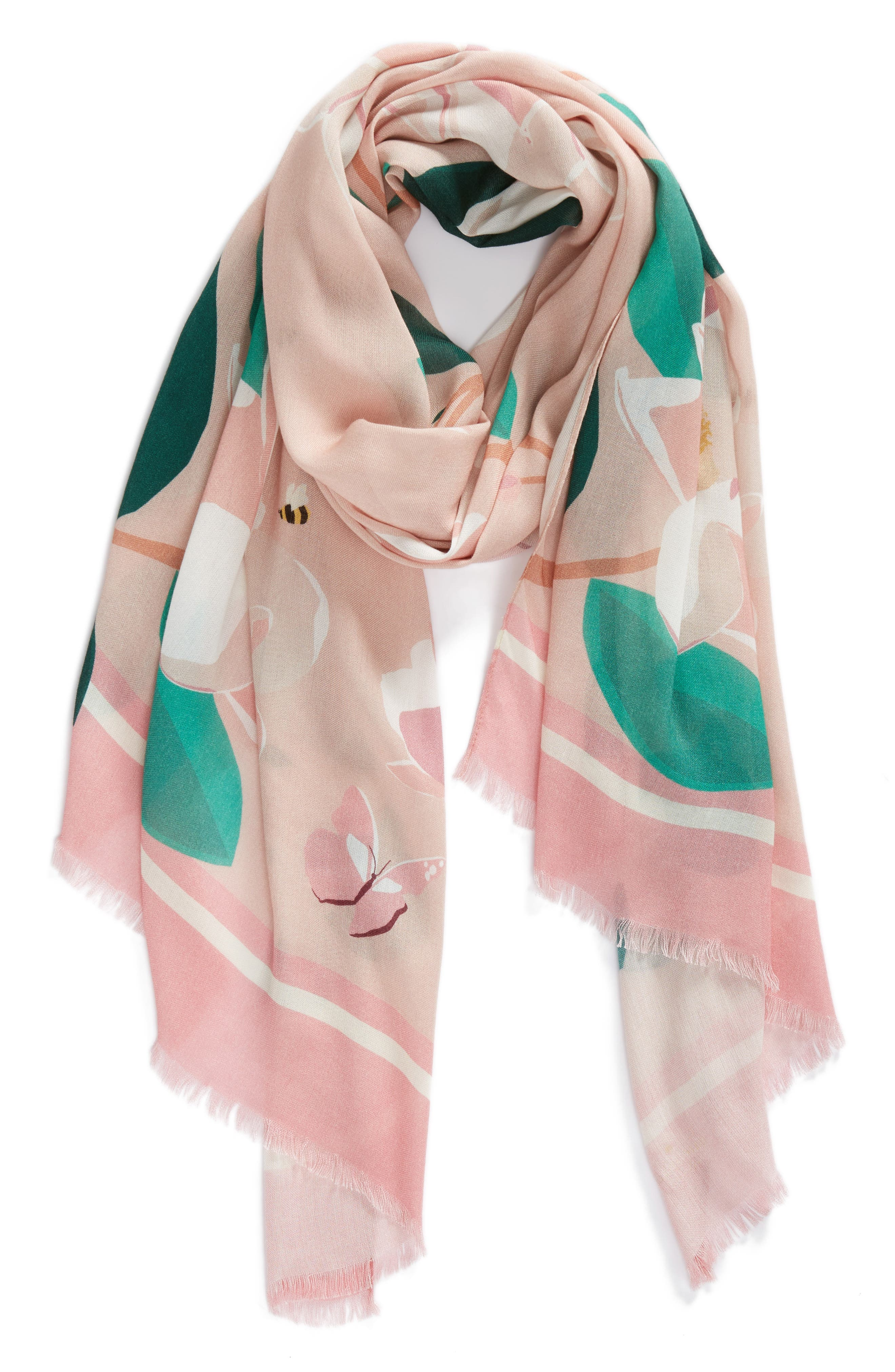 magnolia scarf,                             Alternate thumbnail 3, color,                             Cameo Pink