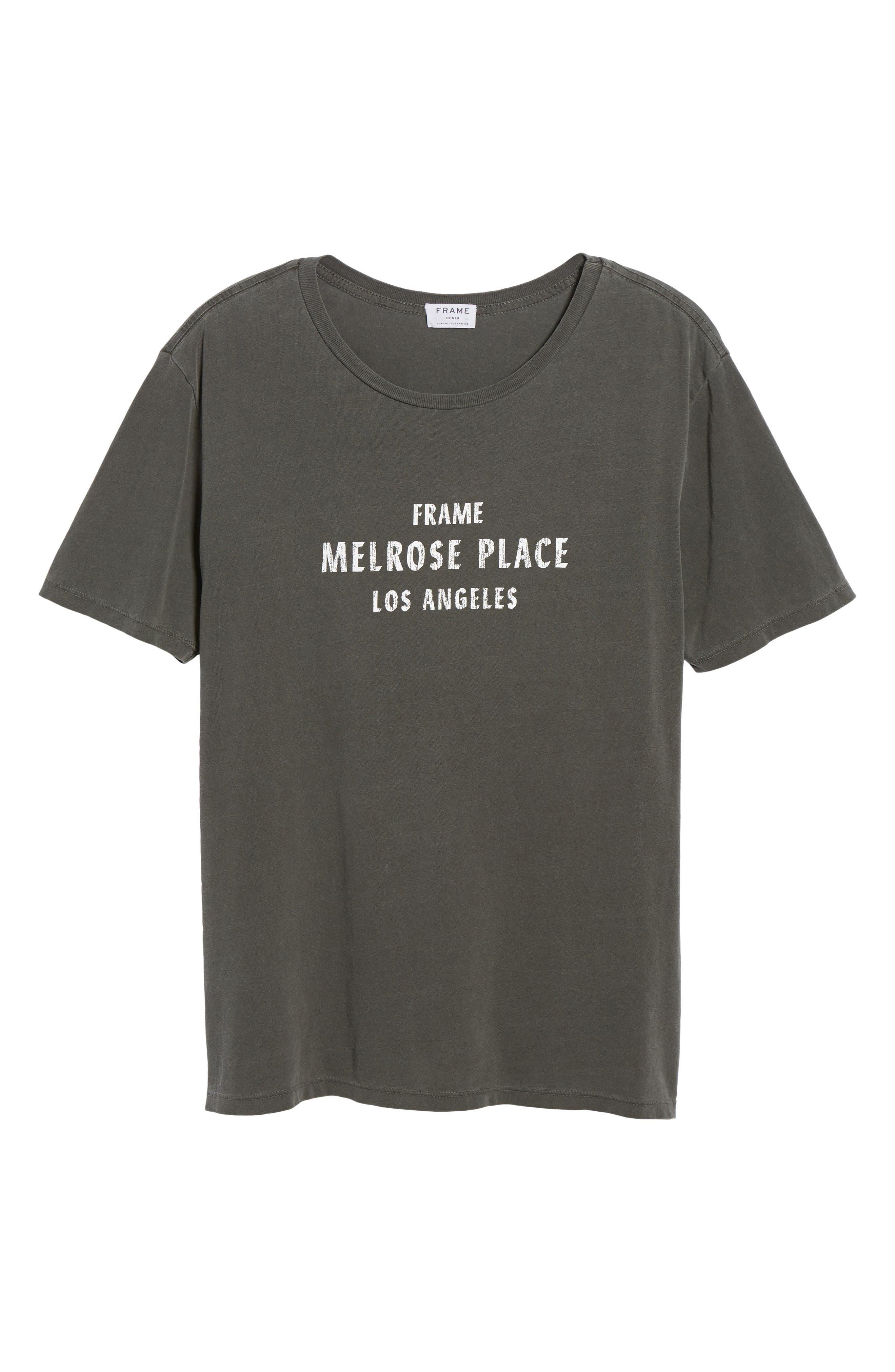 Melrose Place Vintage Graphic T-Shirt,                             Alternate thumbnail 6, color,                             Faded Noir