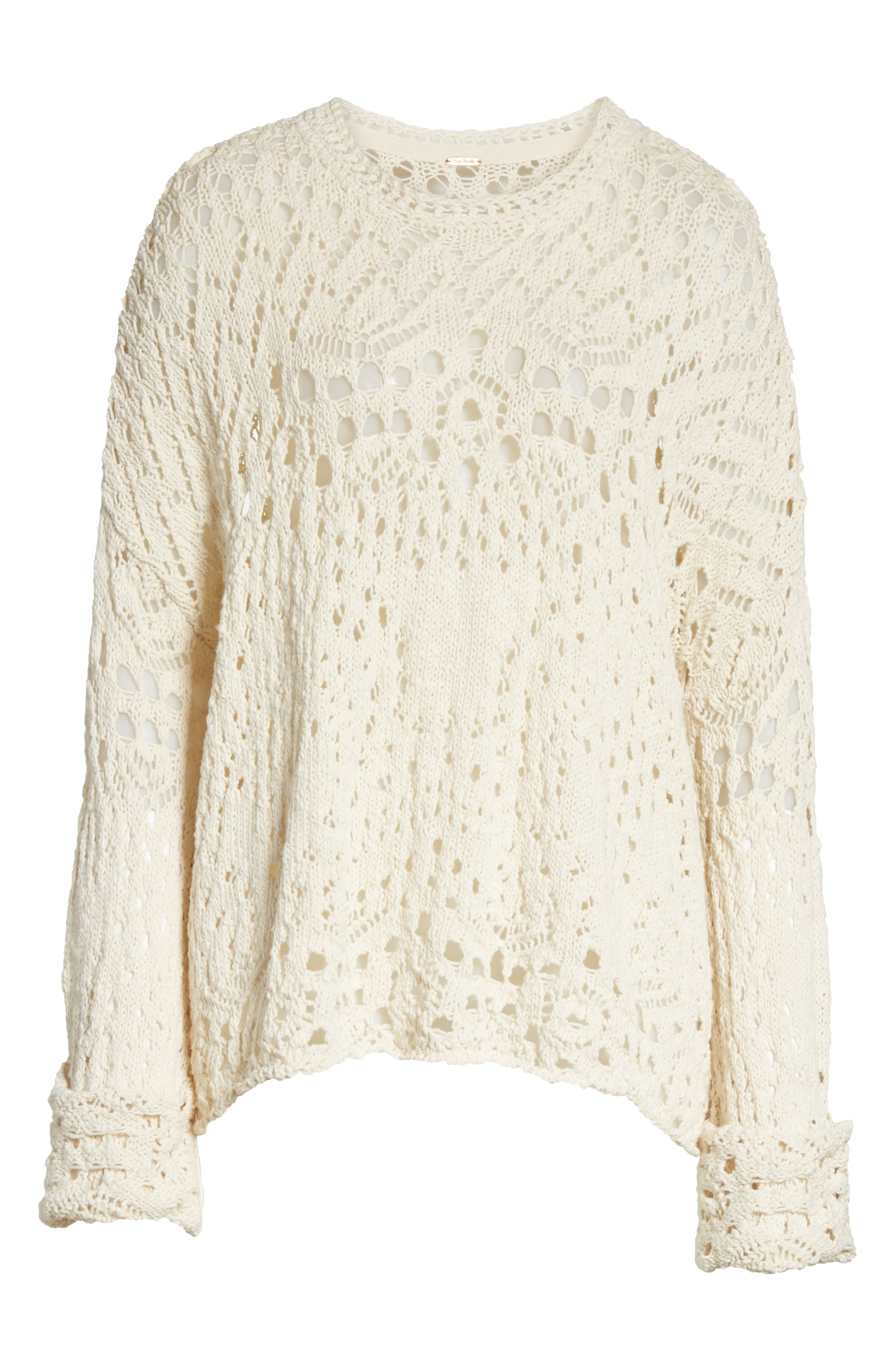 Alternate Image 6  - Free People Traveling Lace Sweater