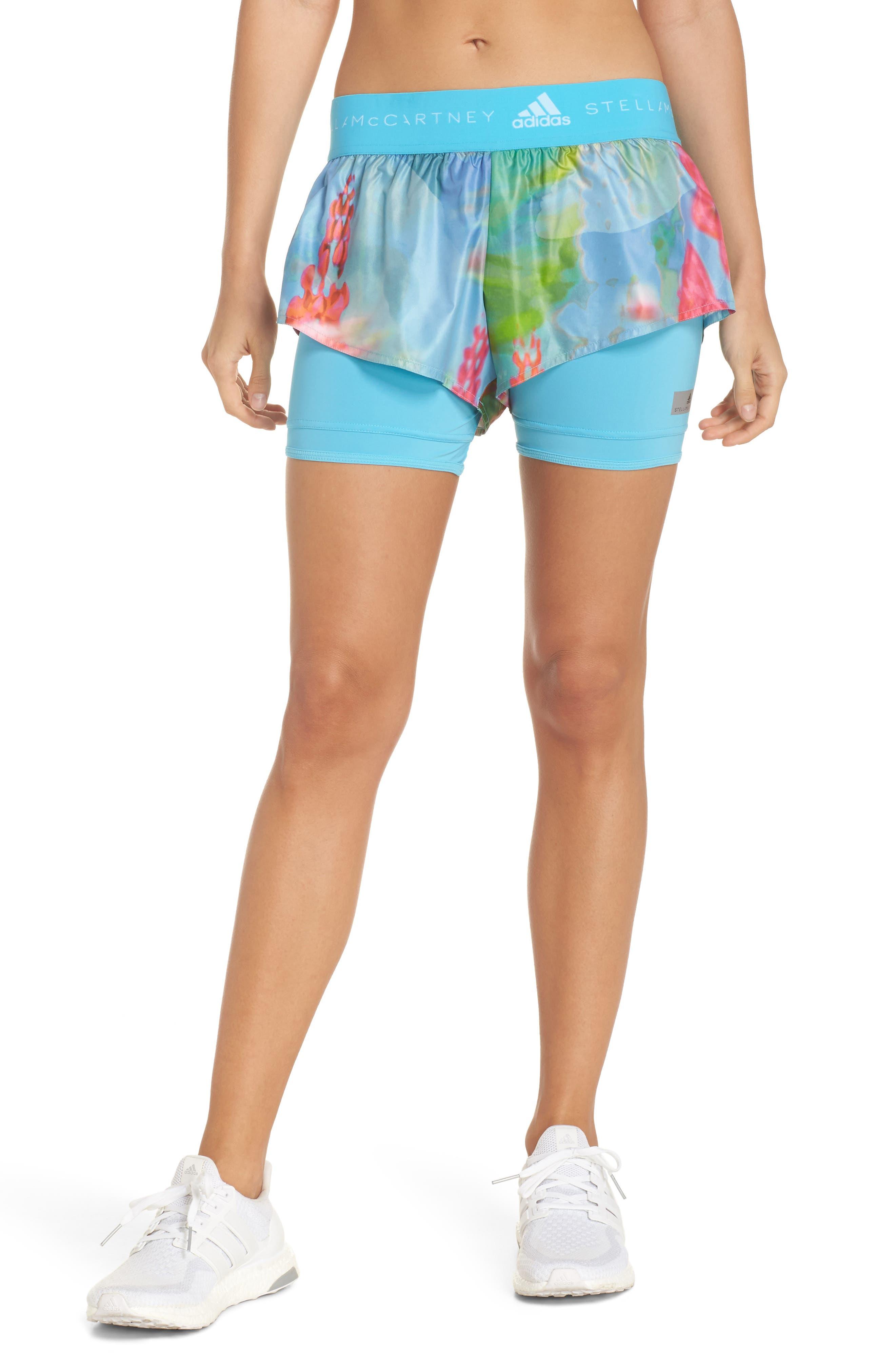 2-in-1 Run Shorts,                             Main thumbnail 1, color,                             Mirror Blue-Smc/ Multicolor