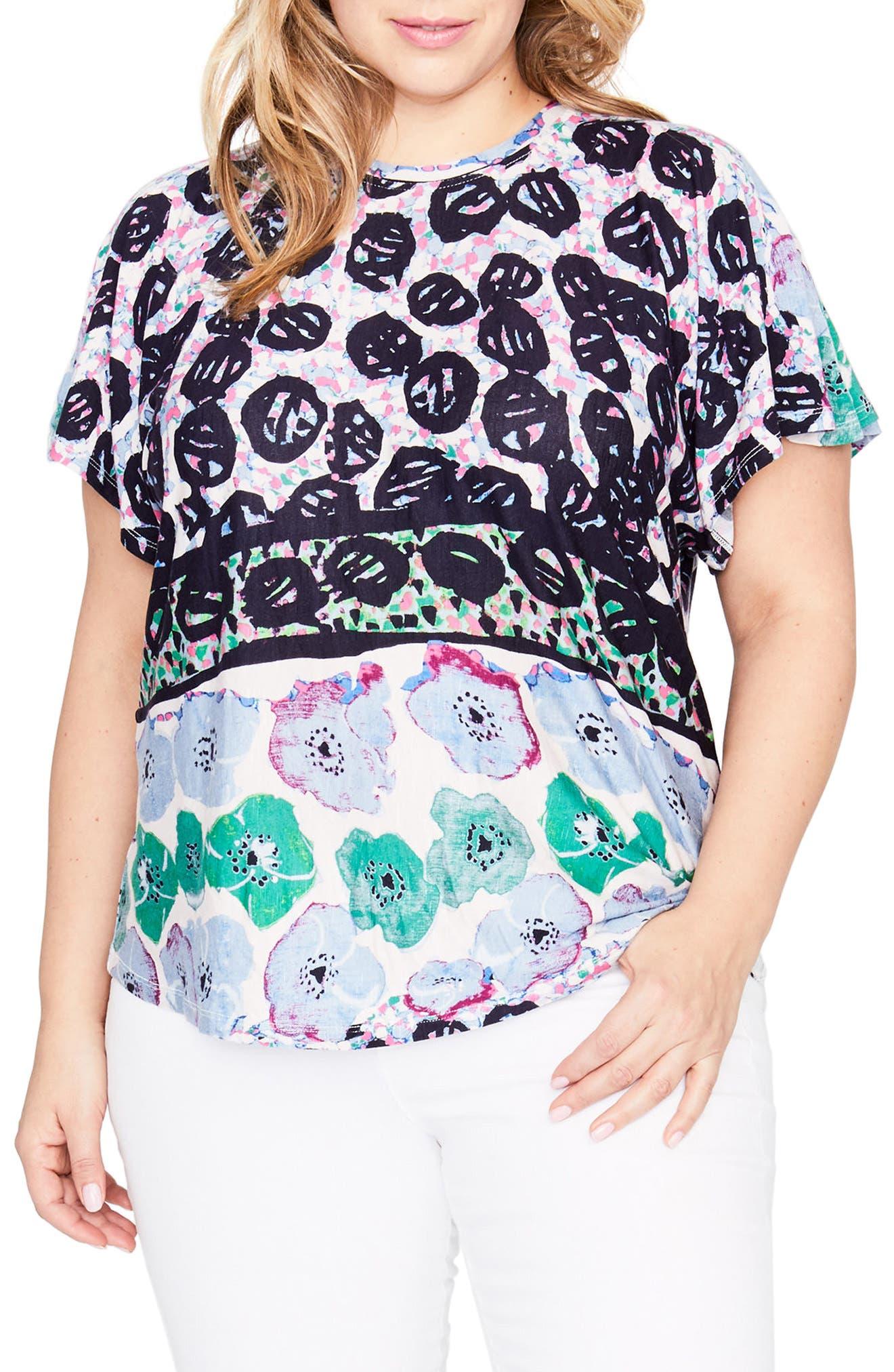 RACHEL Rachel Roy Print Tee (Plus Size)