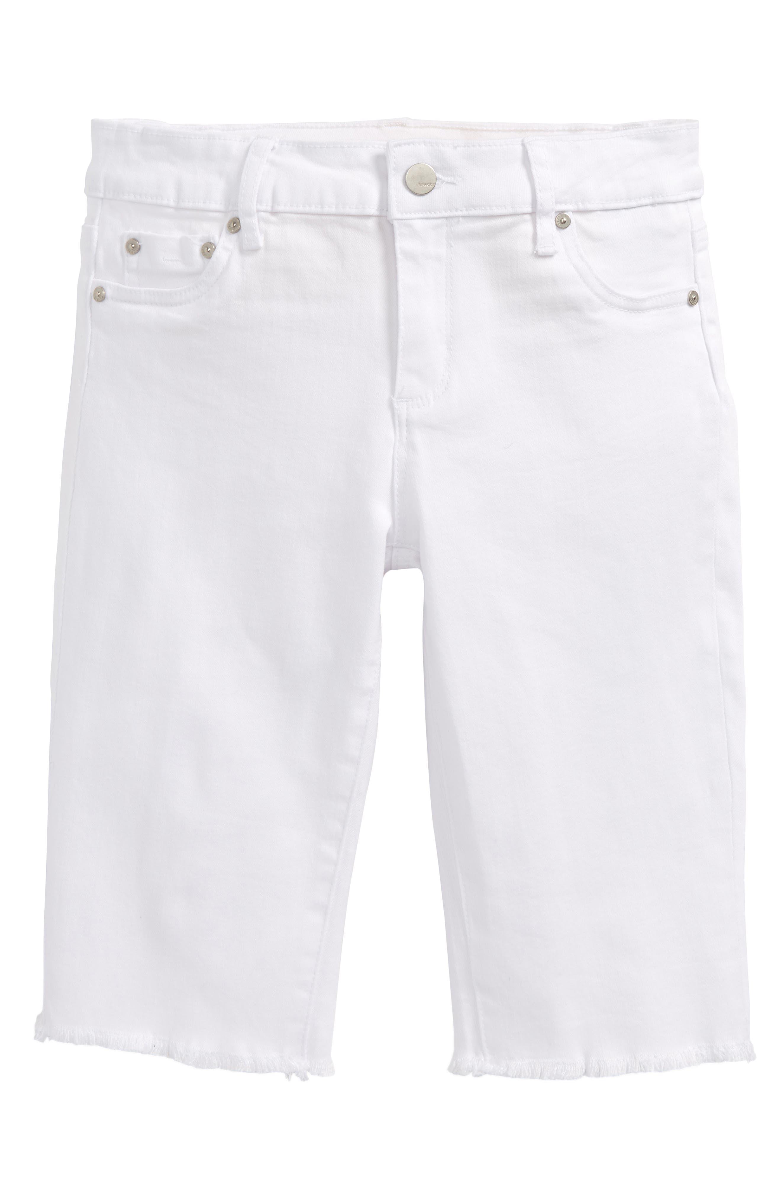 Main Image - Tractr Frayed Hem Bermuda Shorts (Big Girls)