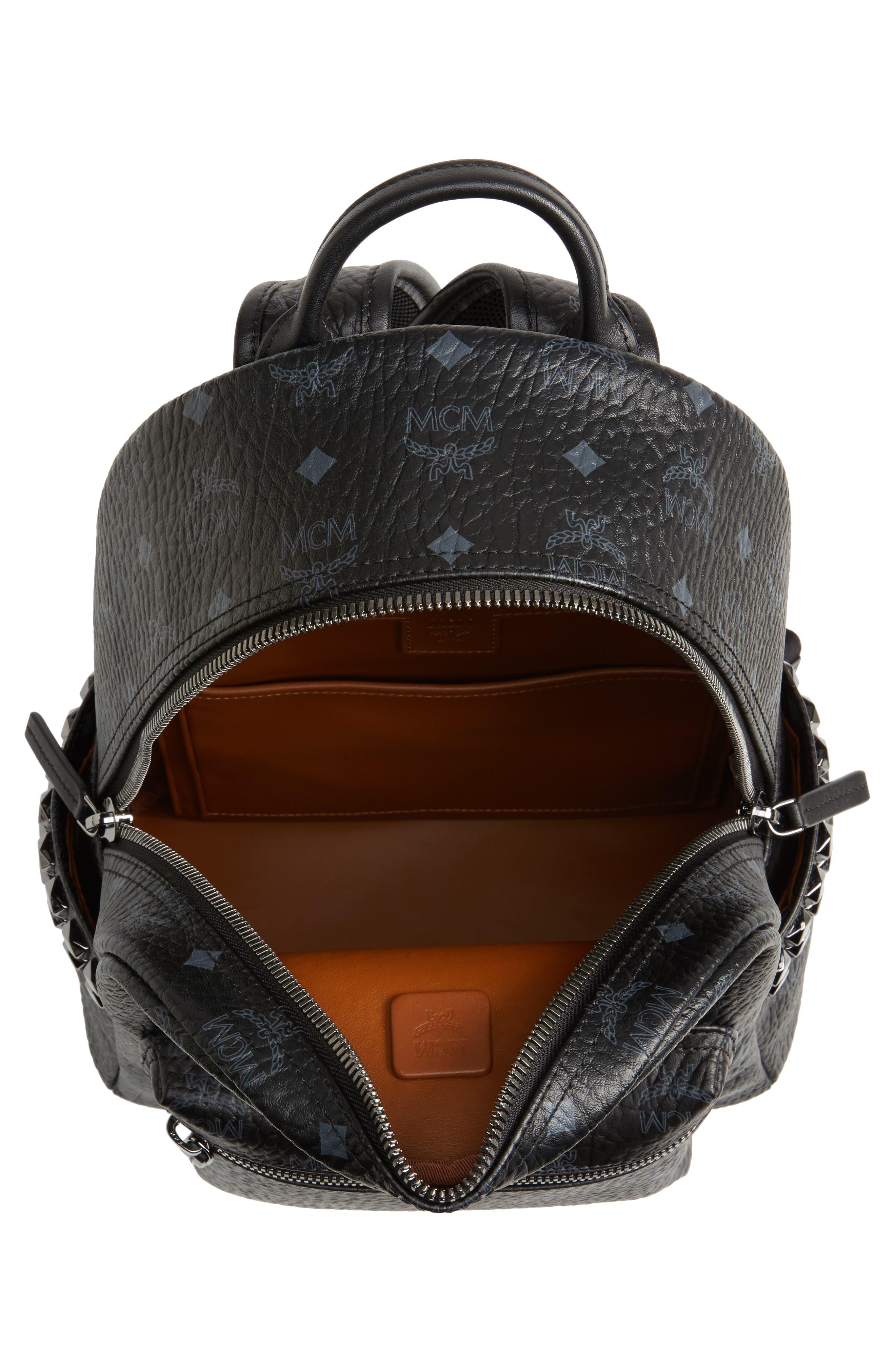Small Stark Side Stud Backpack,                             Alternate thumbnail 4, color,                             Black